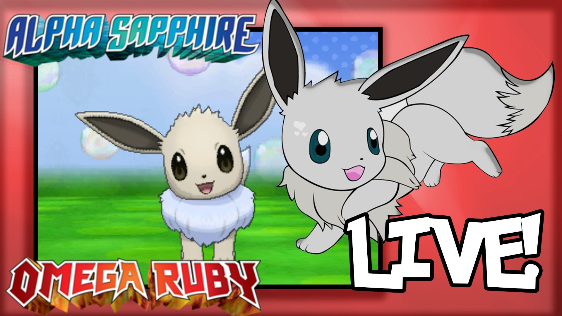 Live Shiny Eevee after Chain of 105! Omega Ruby and Alpha Sapphire! –  YouTube