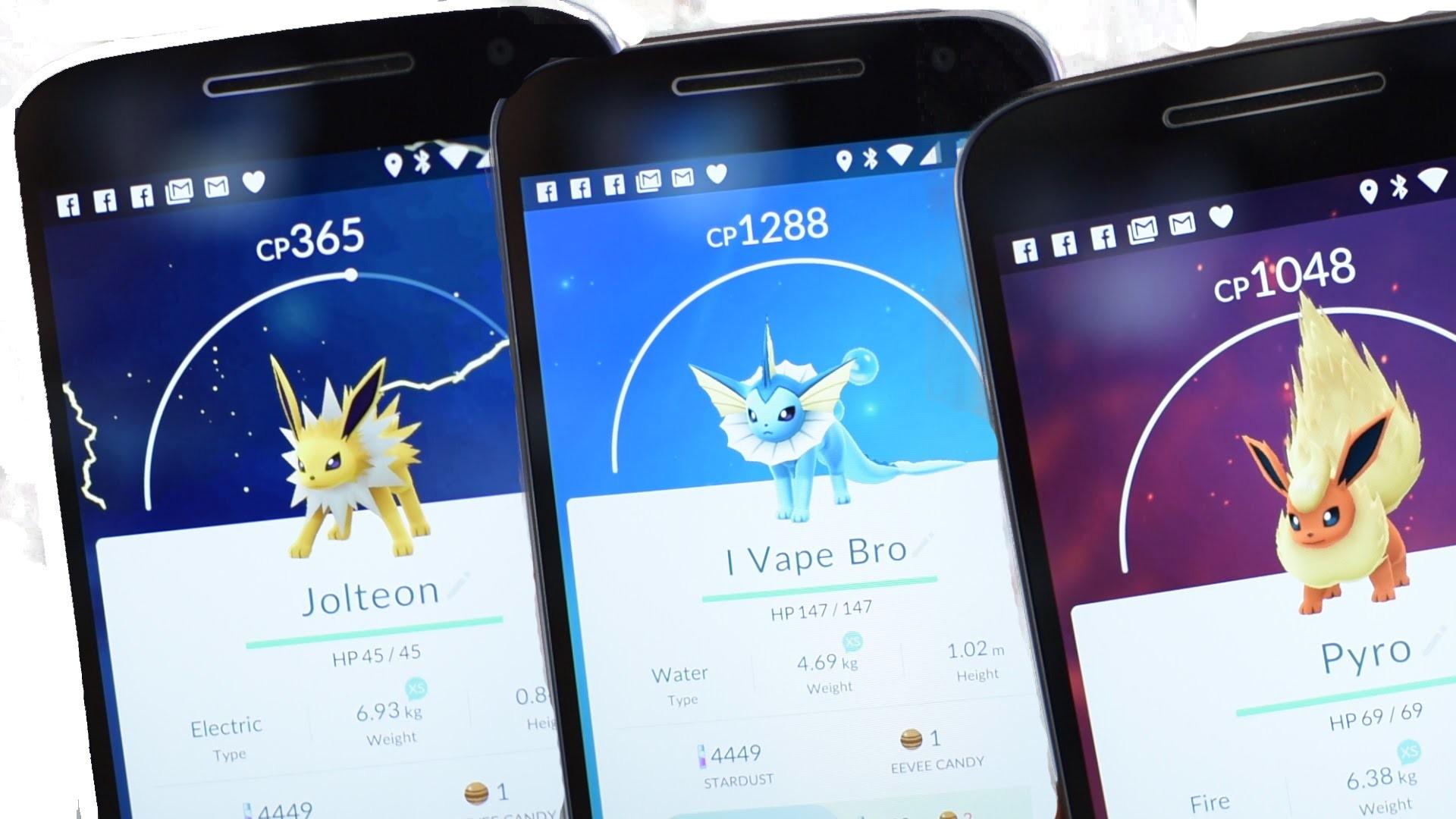 Pokemon Go Eevee Evolution Cheat | Evolve into: Flareon, Jolteon or  Vaporeon – YouTube