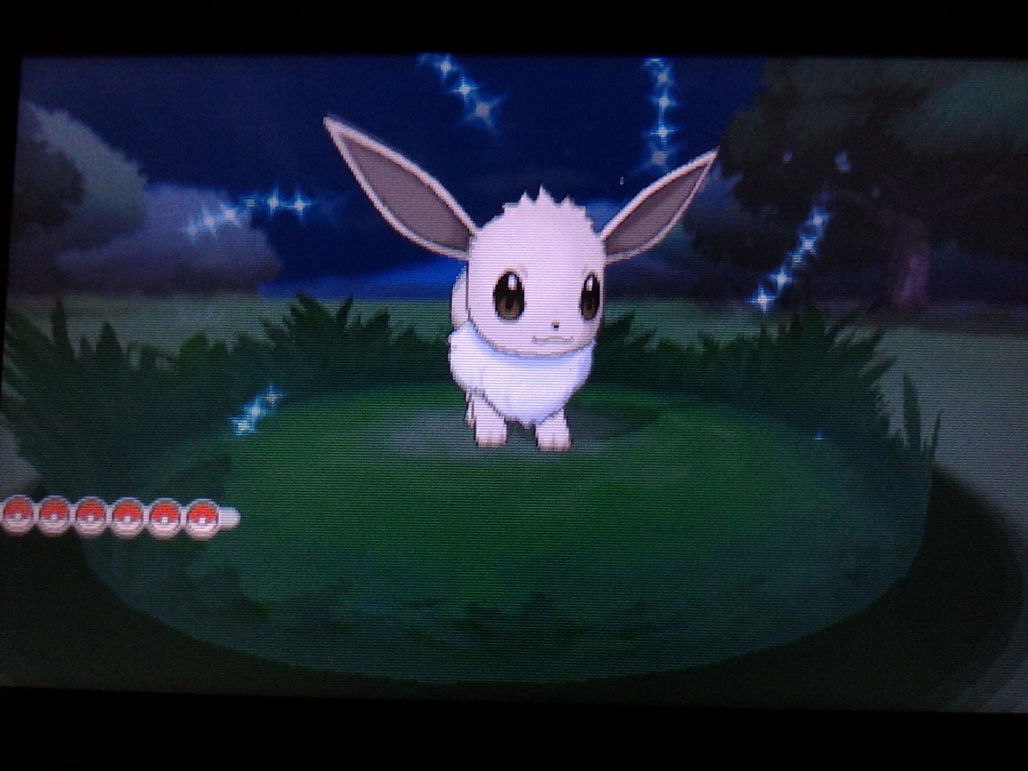 Live shiny Eevee after only 40 REs!