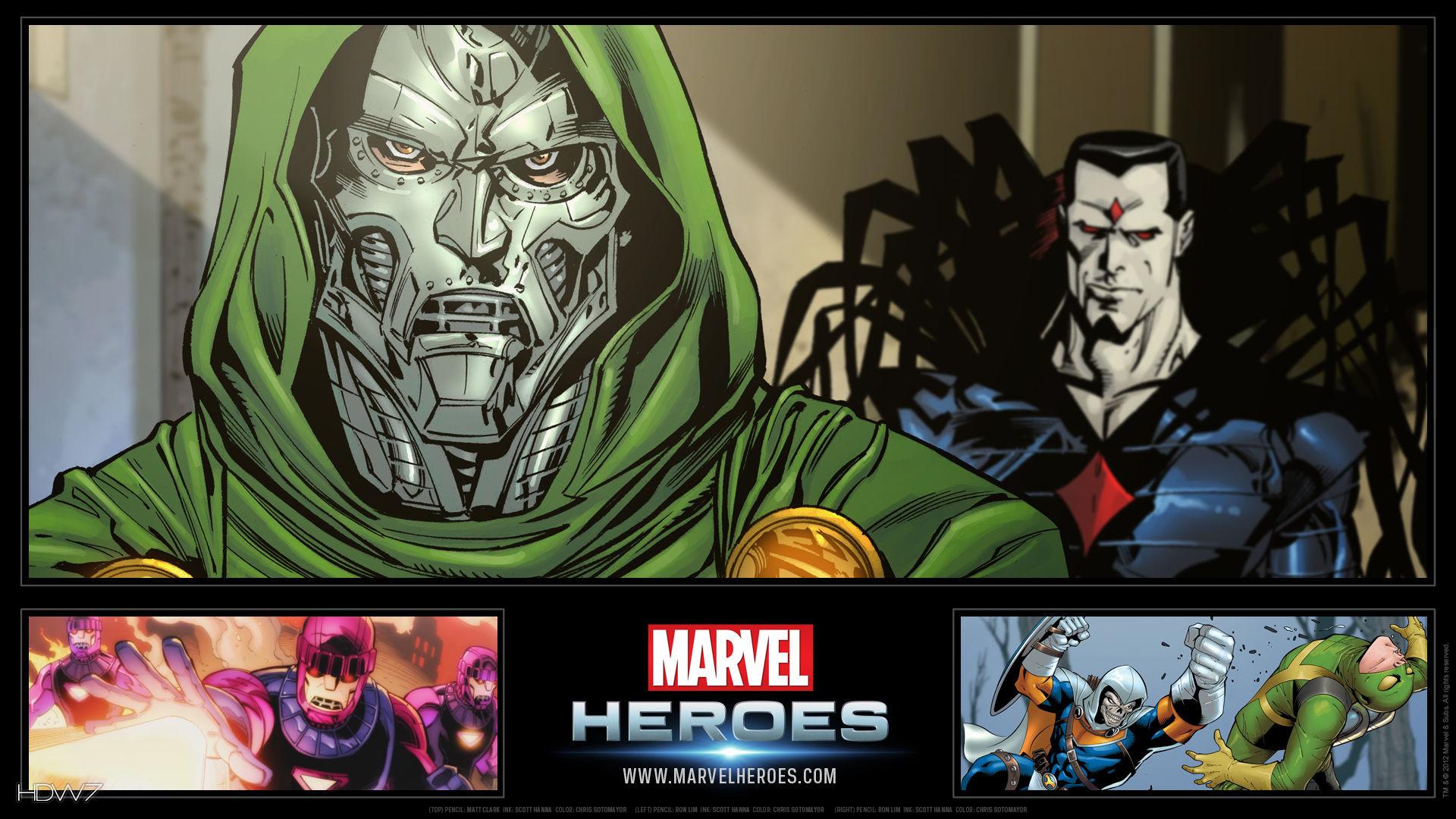 marvel heroes dr doom widescreen hd wallpaper
