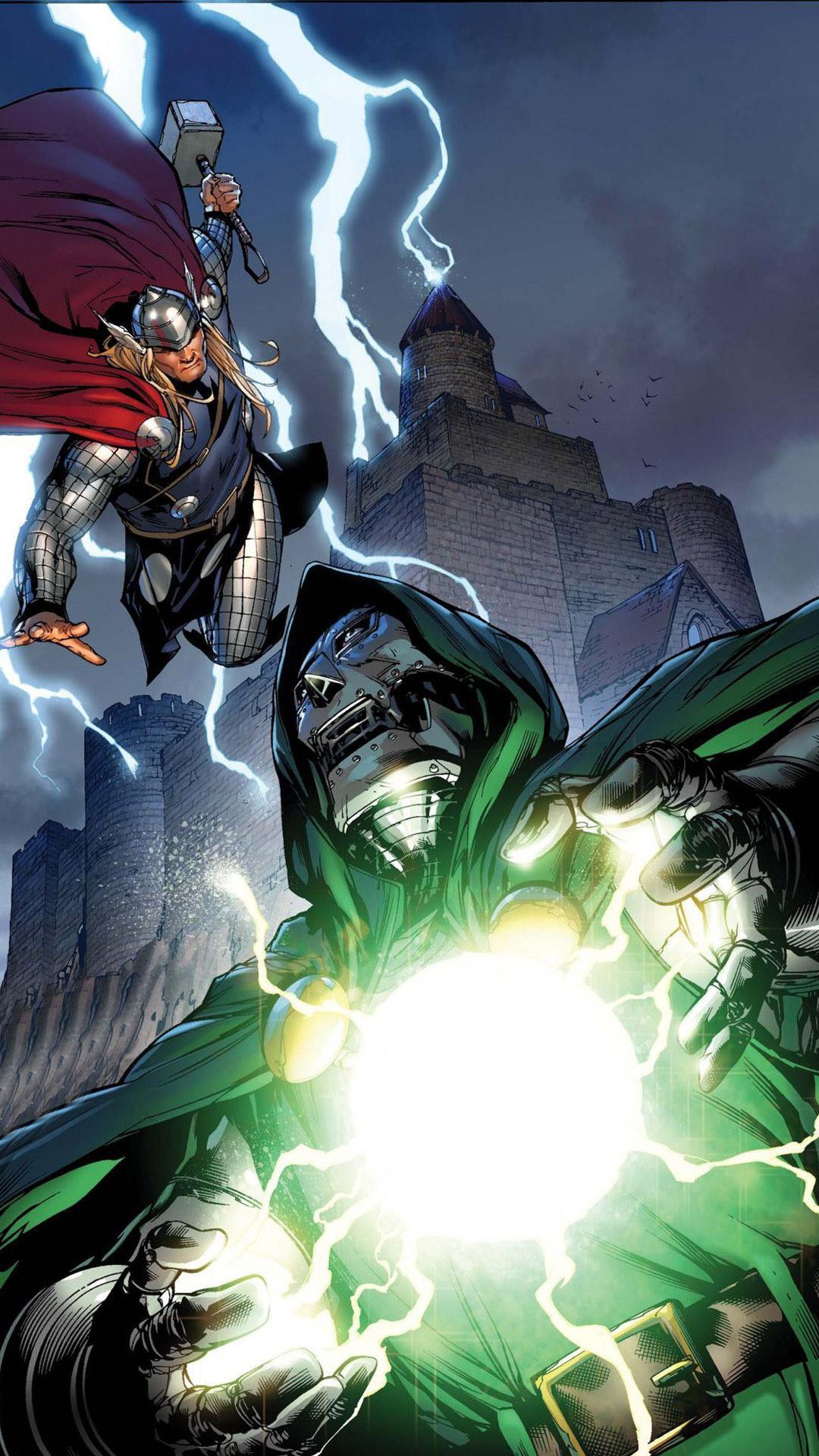 Thor against Dr. Doom Wallpaper