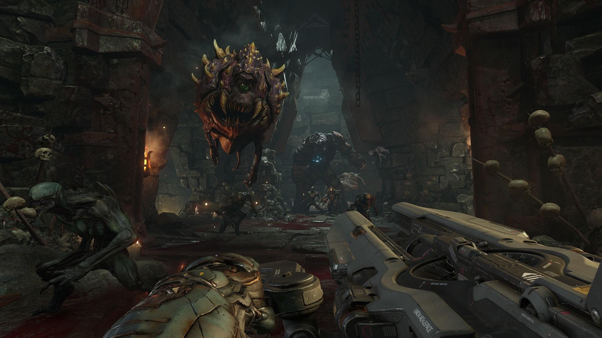 Doom Wallpaper, Games / Action: Doom , Action, Shooter, Horror 1920×
