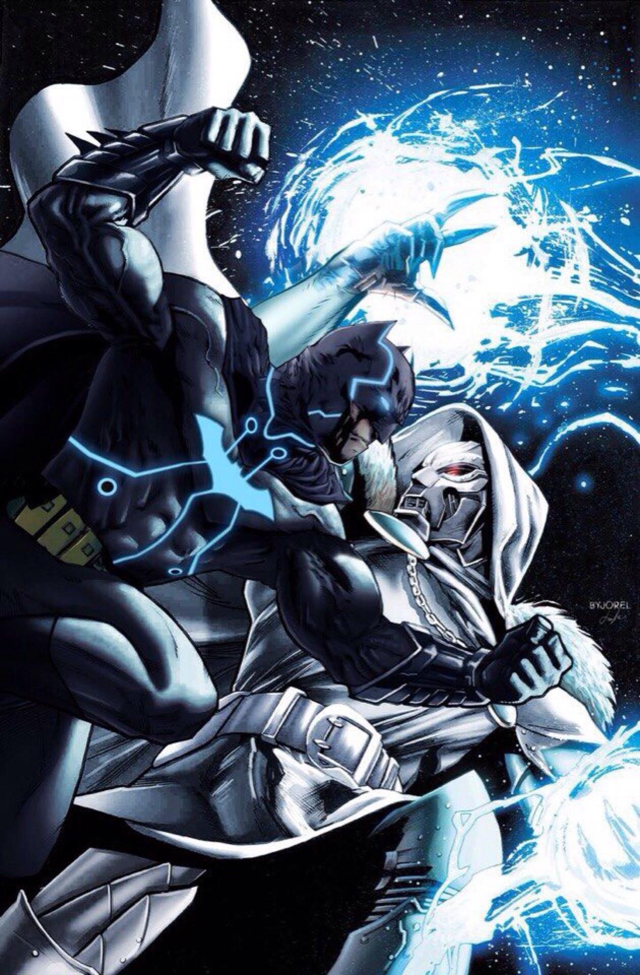 Cartoons And Heroes — longlivethebat-universe: Batgod vs Emperor Doom.
