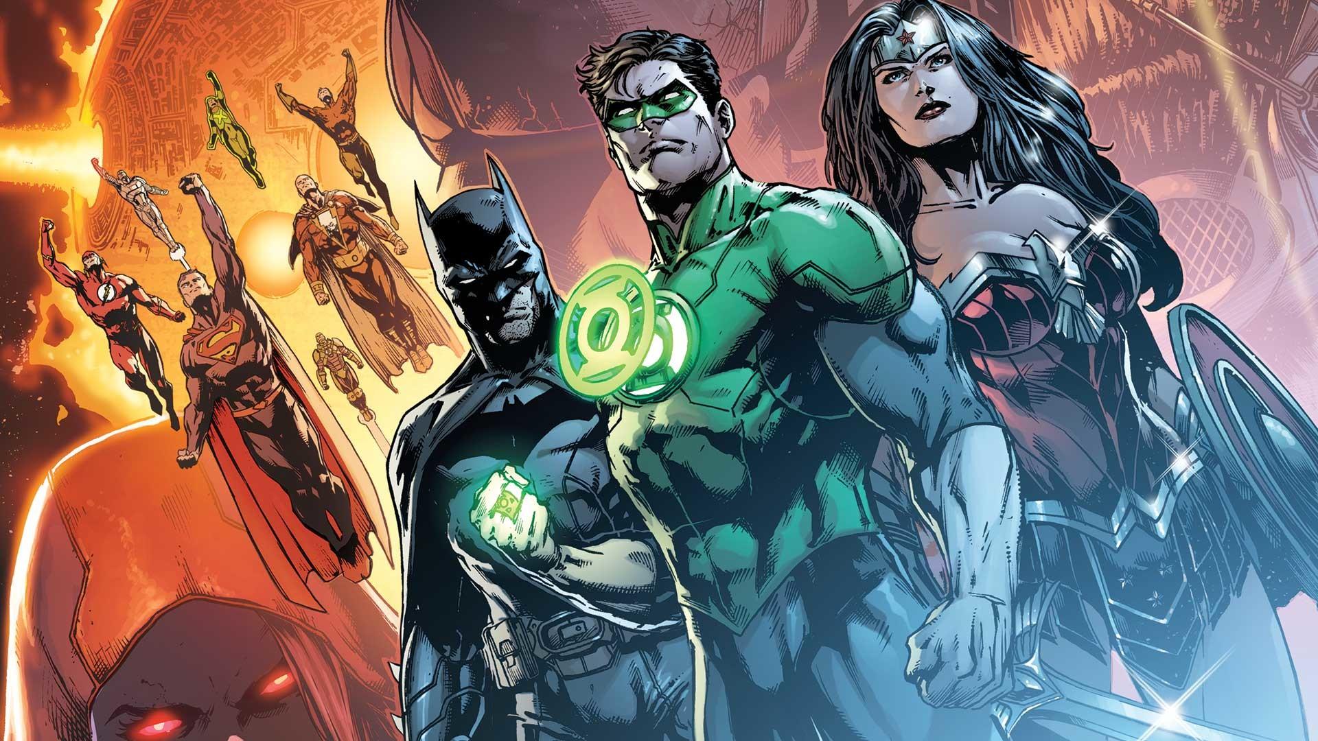 Comics – Justice League Green Lantern Flash Superman Batman Wonder Woman  Aquaman Wallpaper