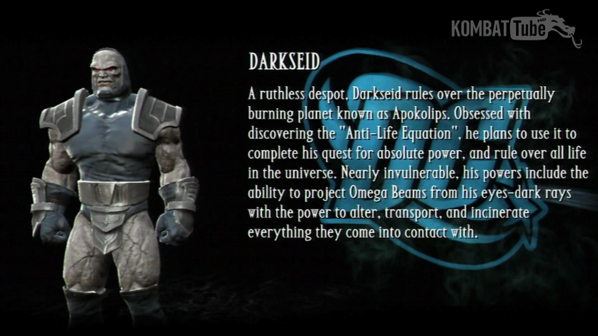 MKvsDC Bio: DARKSEID