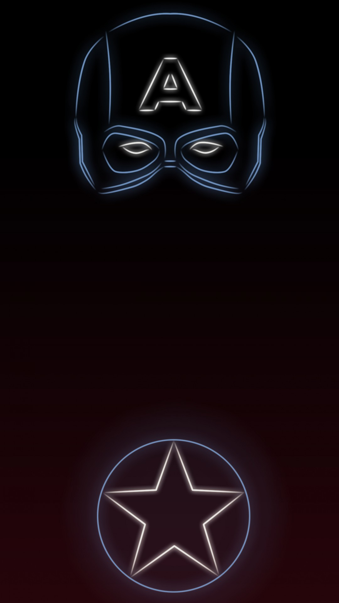 #TeamCap Tap to see more Superheroes Glow With Neon Light Apple iPhone