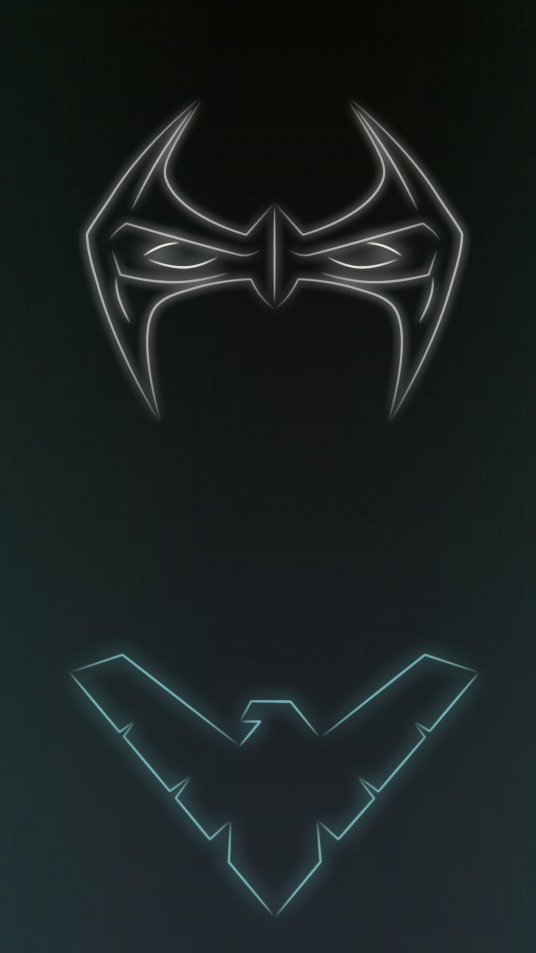 Neon Light Nightwing 1080 x 1920 Wallpapers disponible en téléchargement  gratuit.