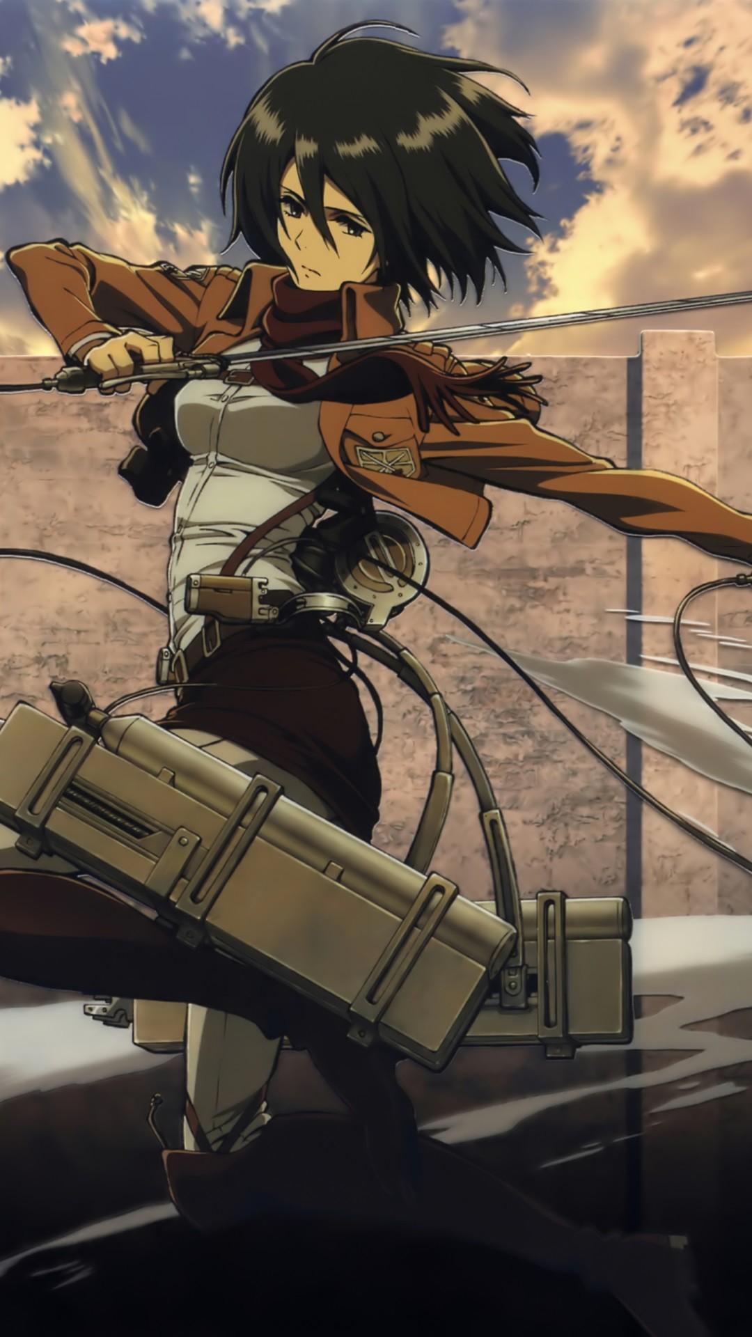 Shingeki no Kyojin.Mikasa Ackerman Samsung Galaxy S4 wallpaper.1080×1920