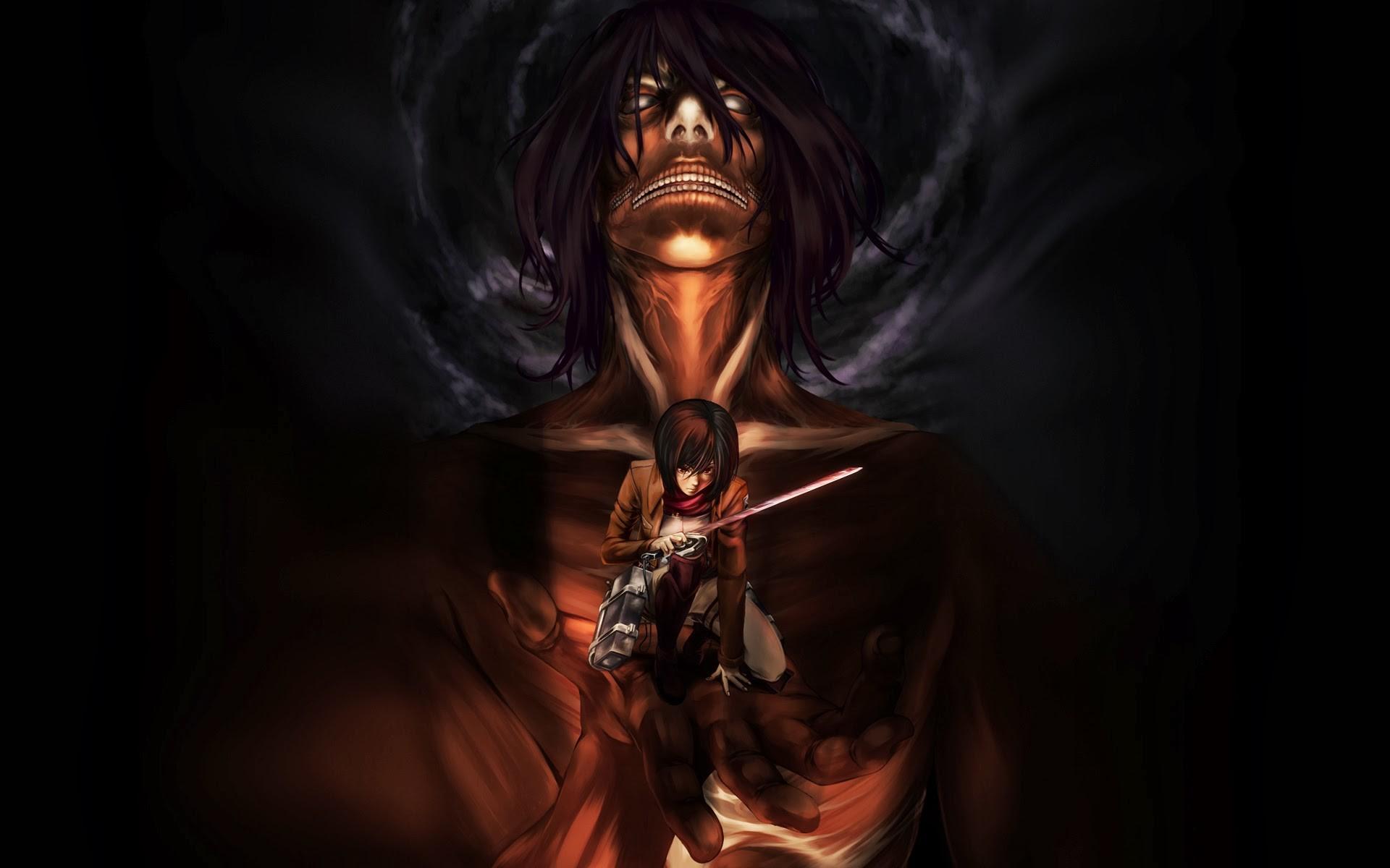Anime – Attack On Titan Mikasa Ackerman Eren Yeager Wallpaper
