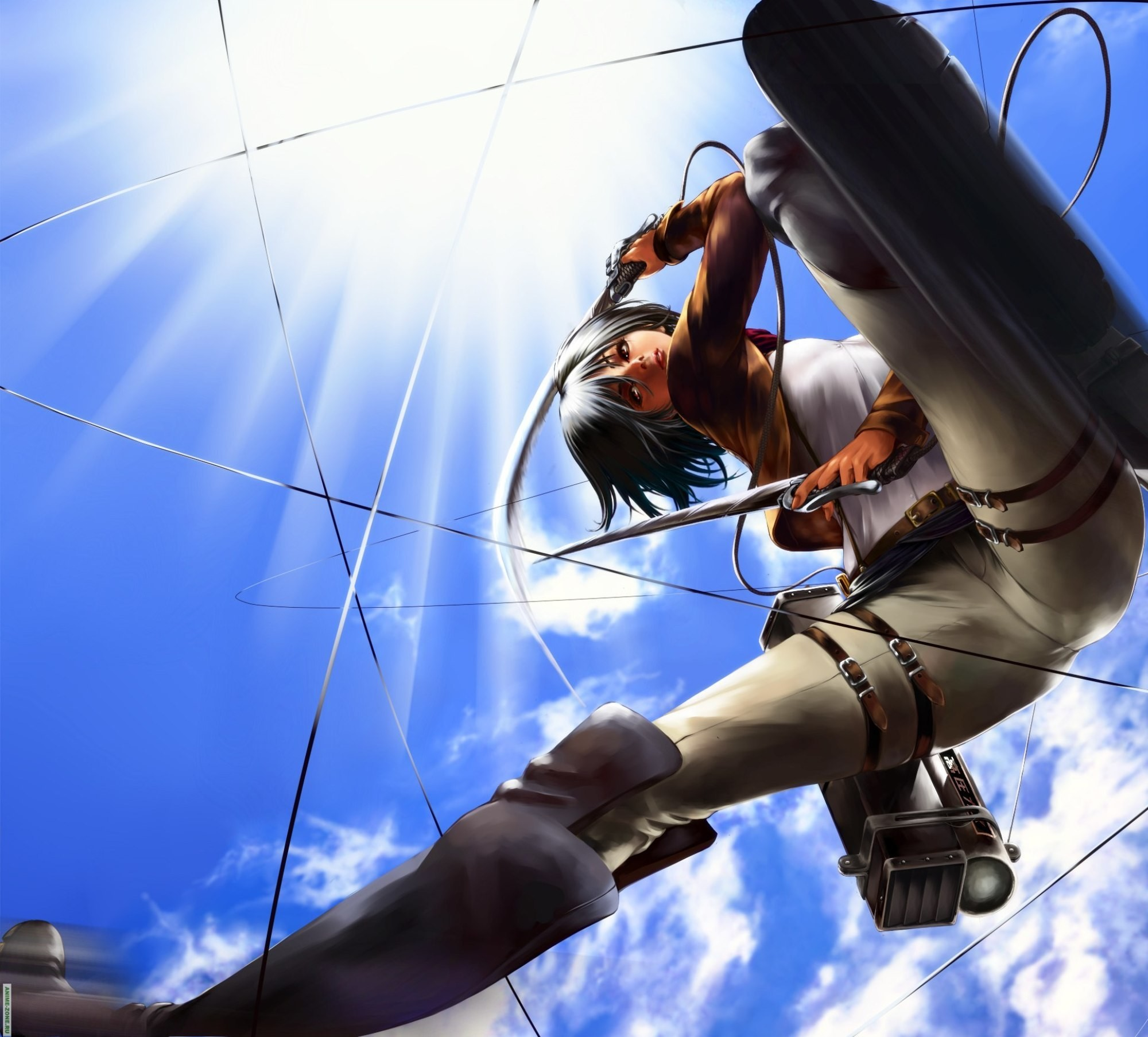 Anime Girl Attack On Titan Mikasa Titans