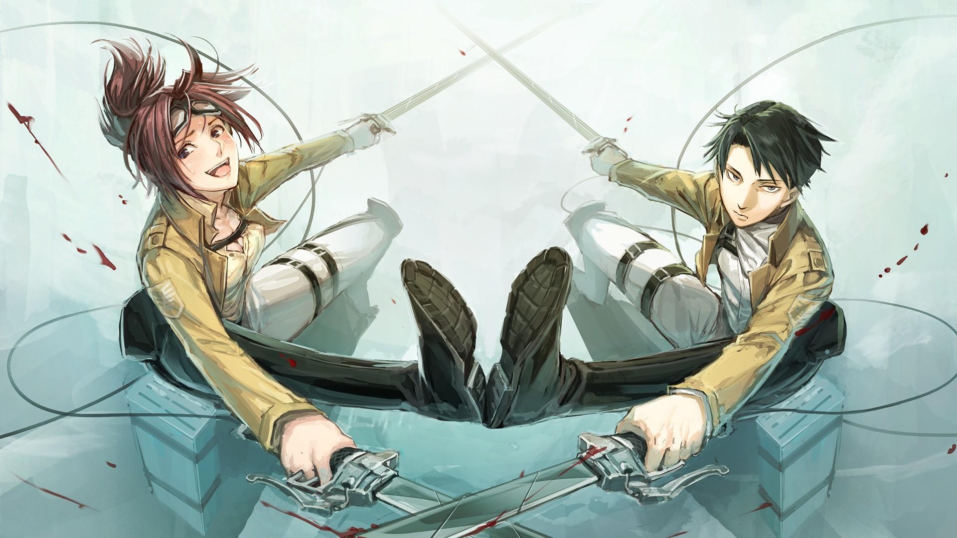 Anime – Attack On Titan Hange ZoÃ« Levi Ackerman Wallpaper