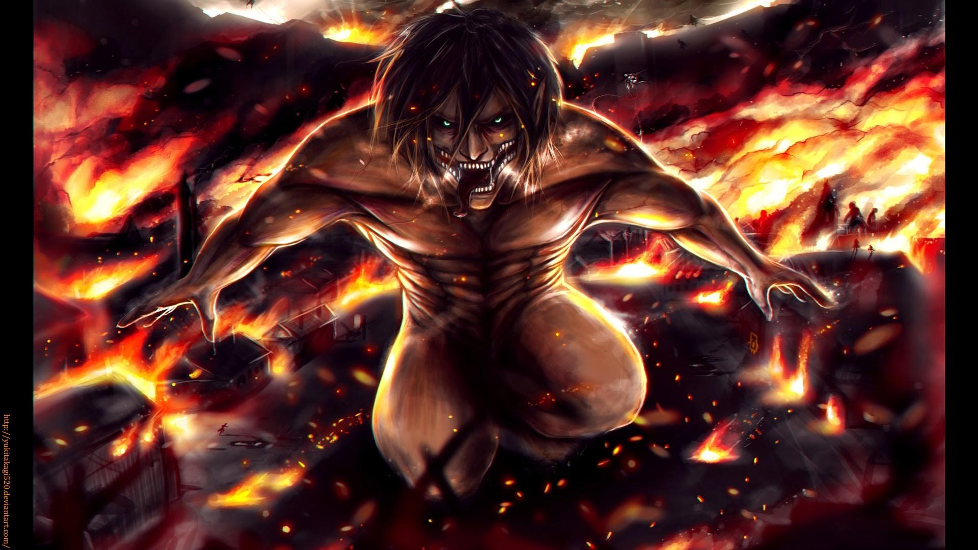 Attack On Titan Eren Wallpaper 1080p Eren yeager jaeger rogue titan