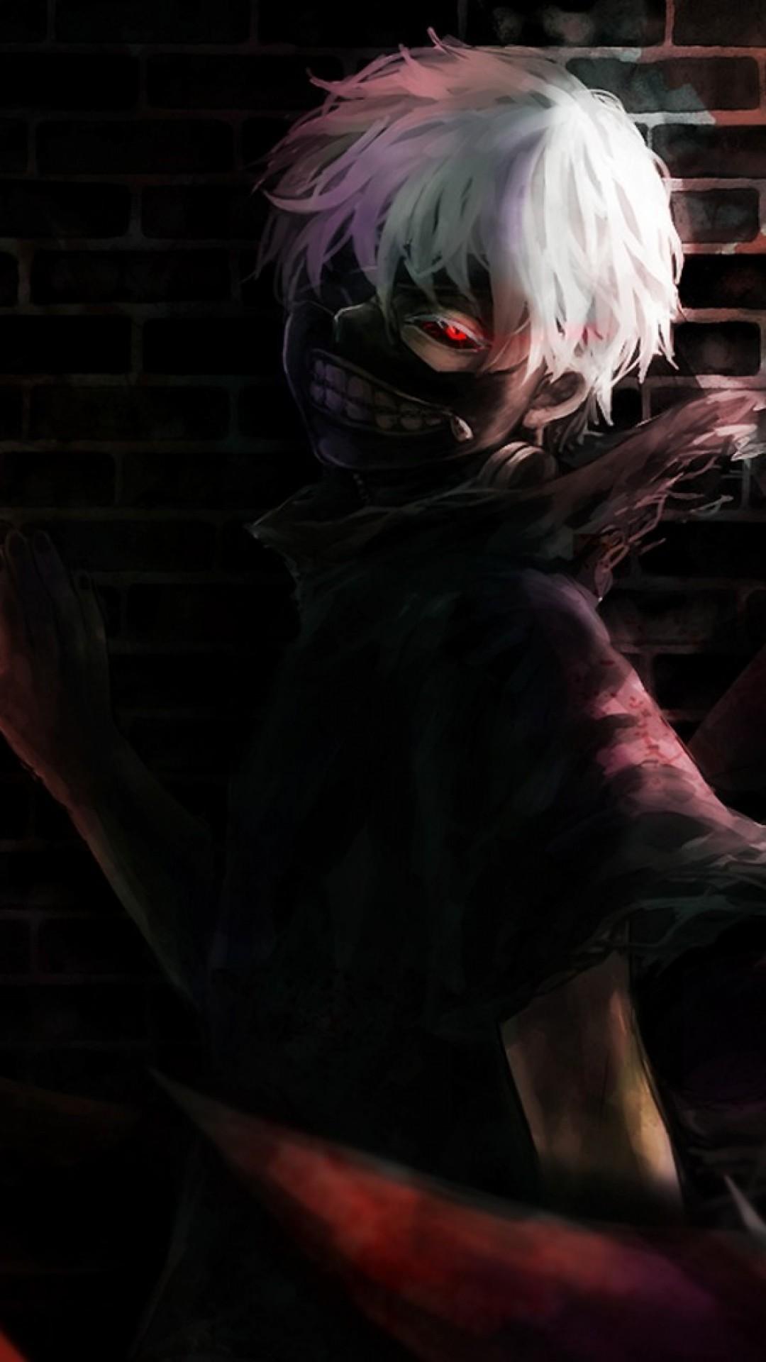 Preview wallpaper tokyo ghoul, kaneki ken, art, mask 1080×1920