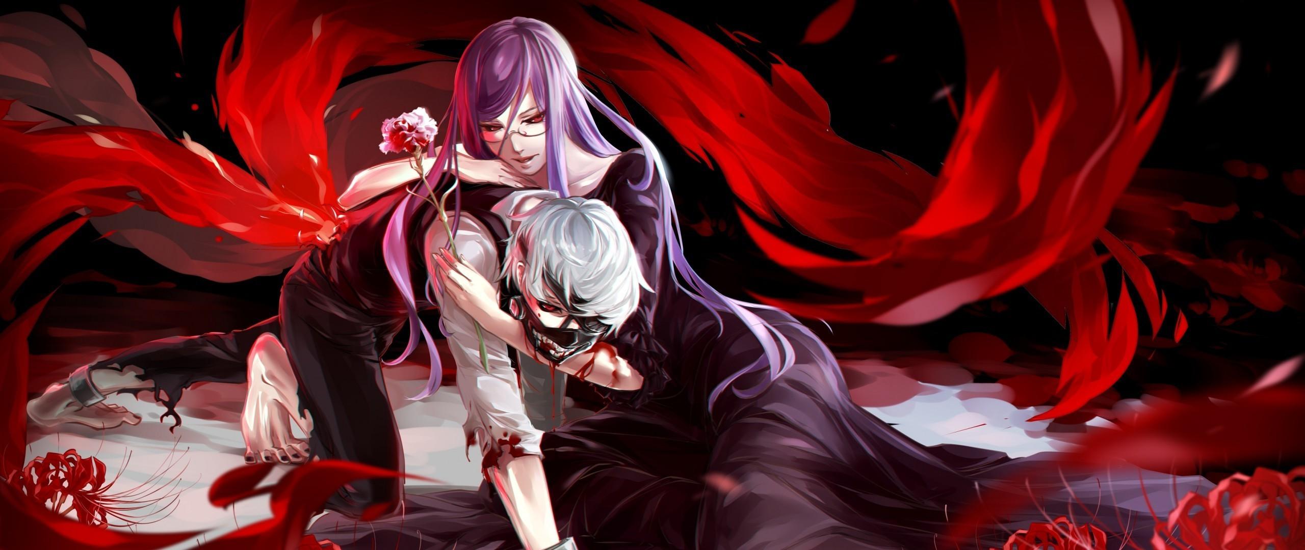 anime, Anime Girls, Kaneki Ken, Tokyo Ghoul, Kamishiro Rize Wallpapers HD /  Desktop and Mobile Backgrounds