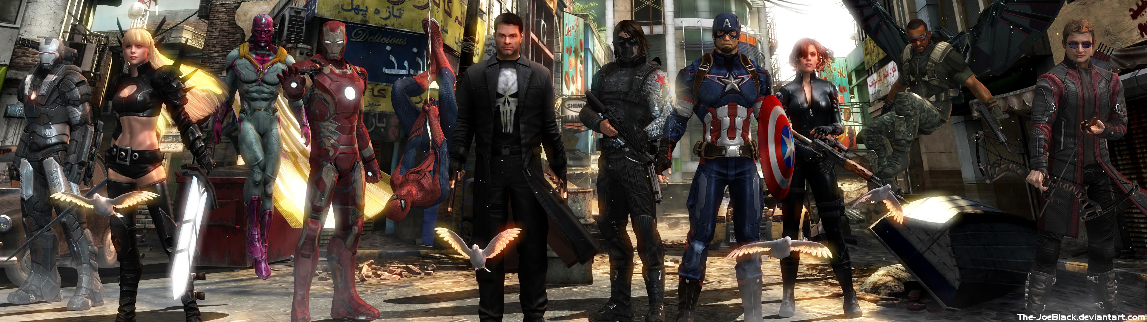 Avengers – Dual Screen Wallpaper by The-JoeBlack.deviantart.com on  @DeviantArt