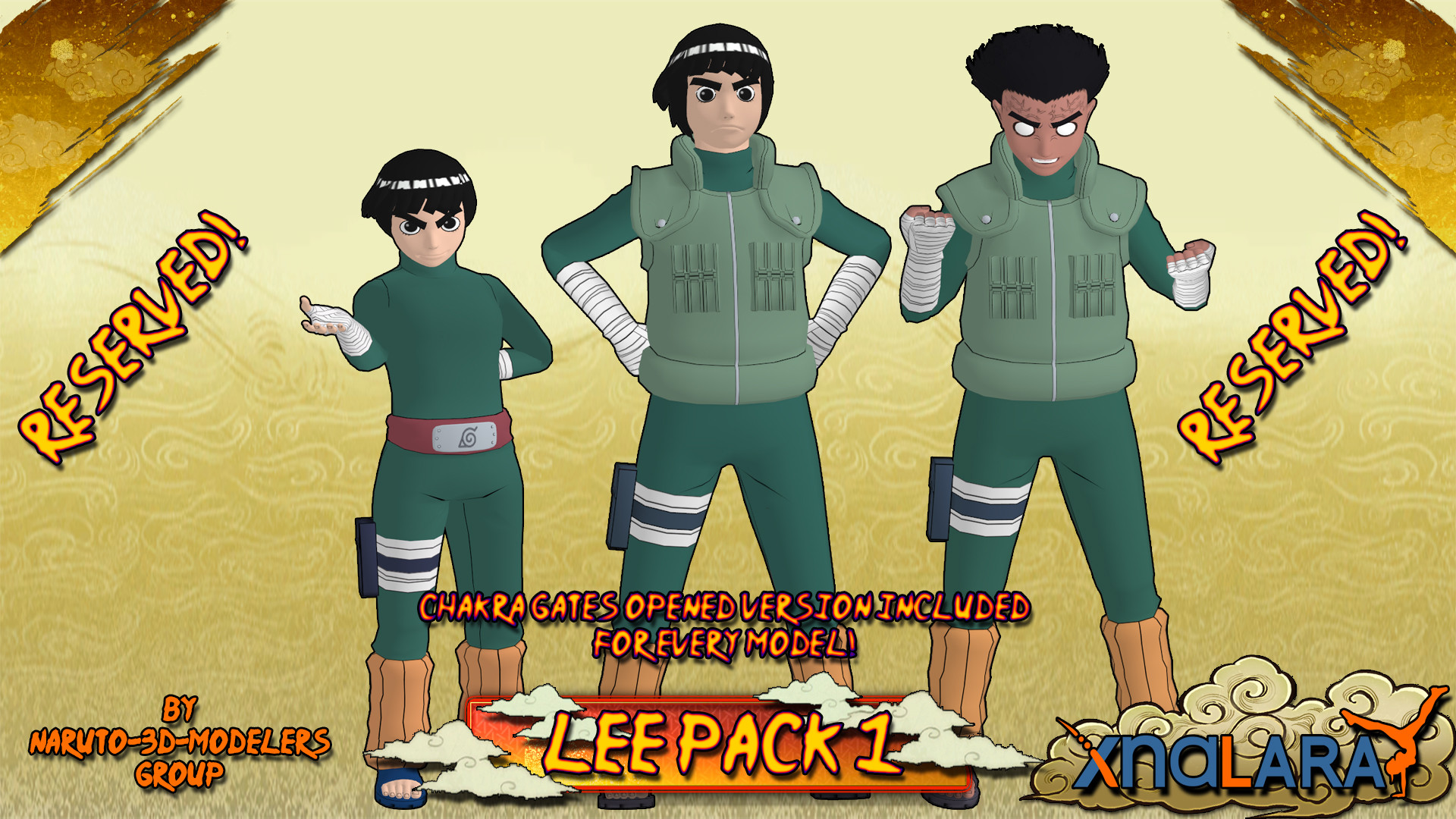 … Naruto – Rock Lee PACK 1 FOR XPS by ASideOfChidori