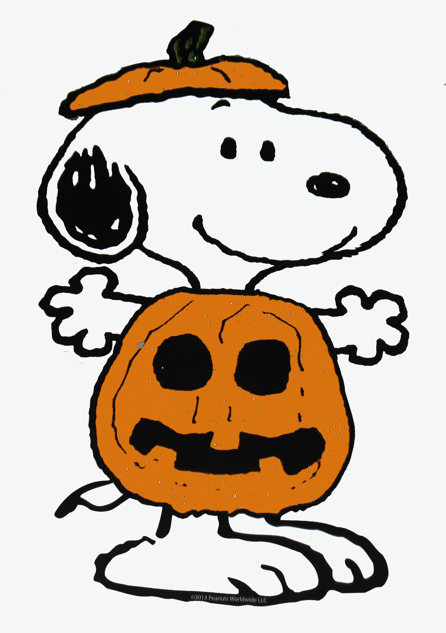 Peanuts Gang Sparkling Halloween Die-Cut Wall Decor – Snoopy .