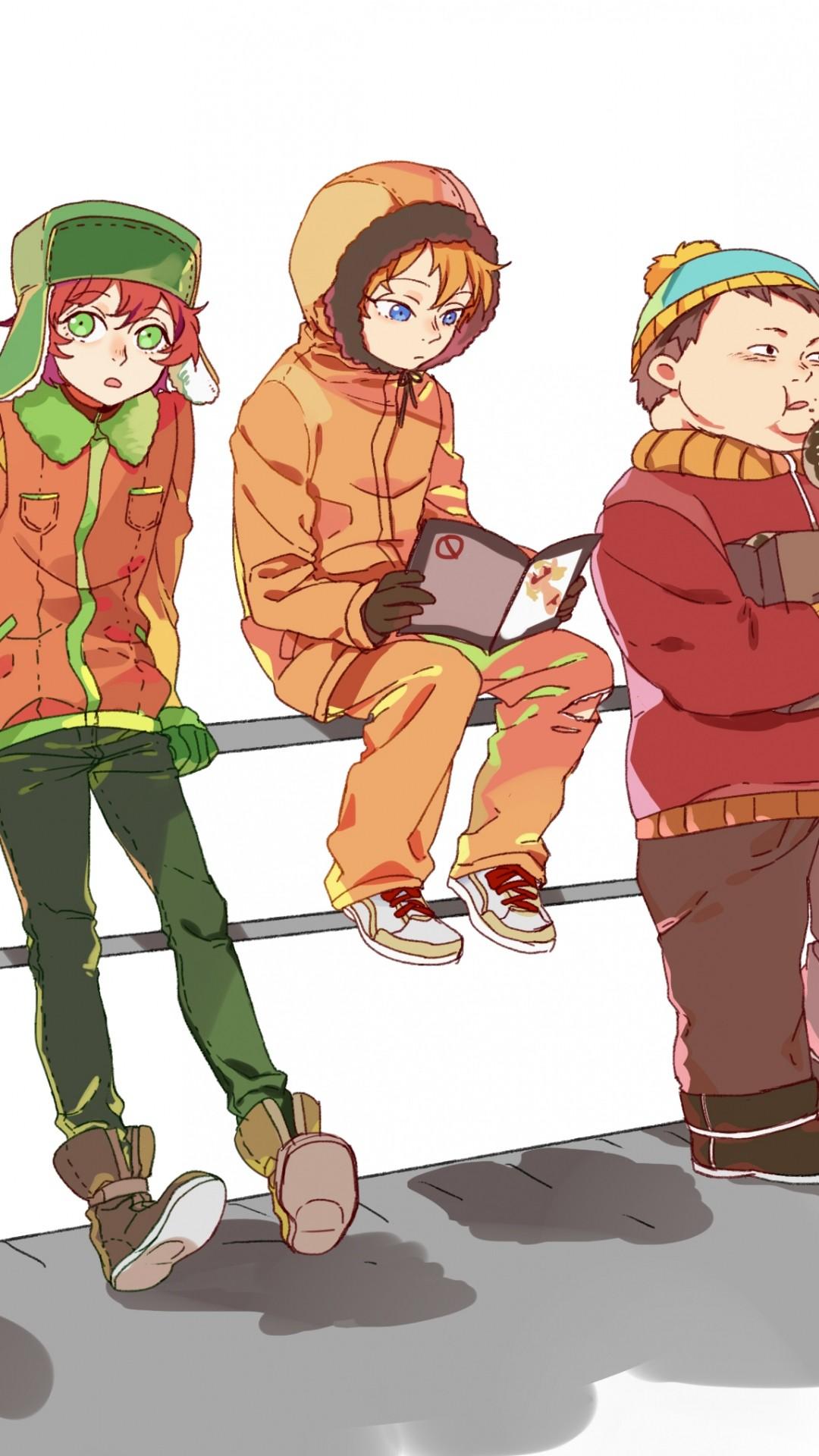 … Wallpaper Anime newrein south park anime stanley randall marsh eric  theodore cartman kenny mccormick kyle broflovski iPhone …