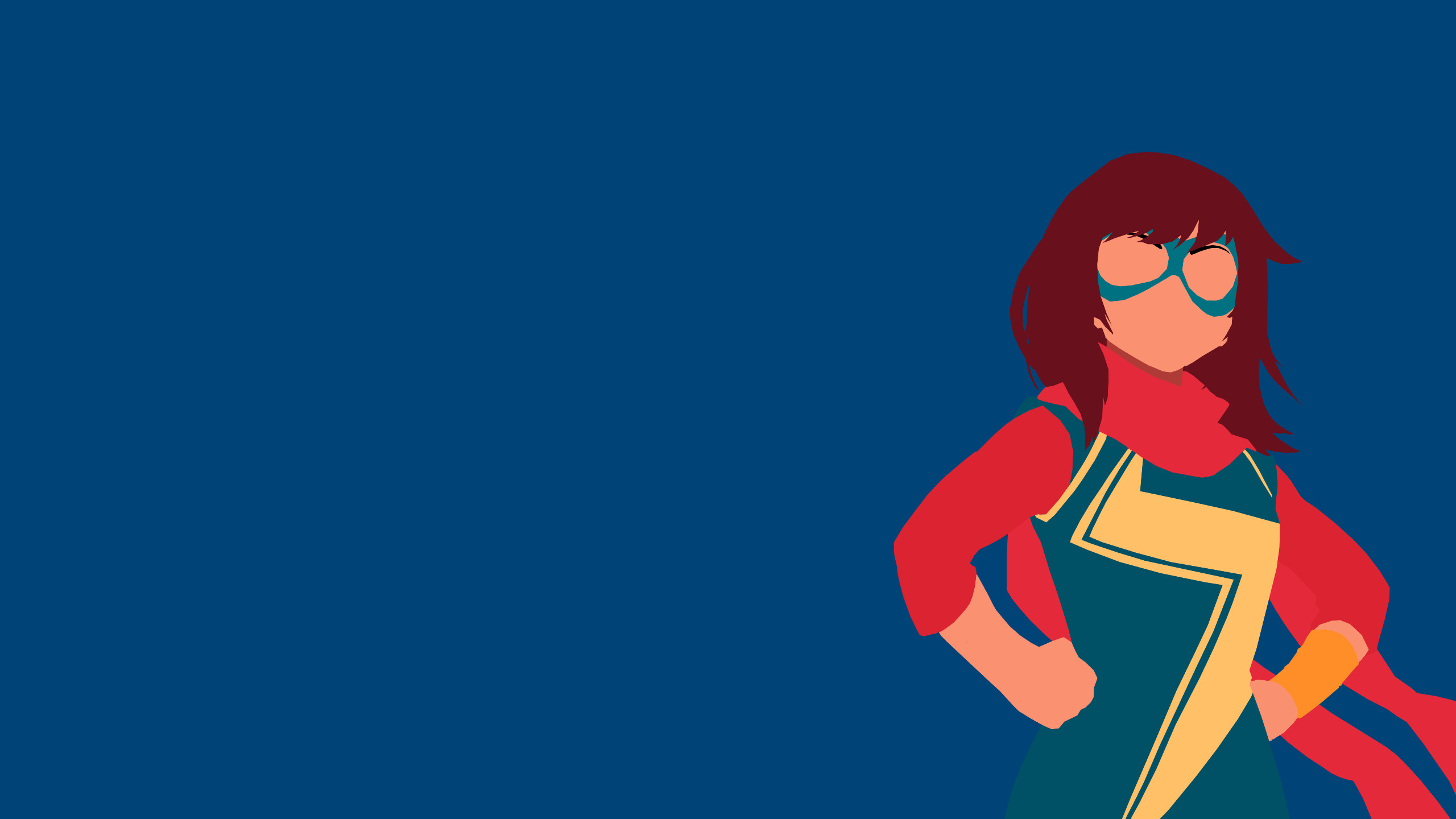 Made a minimalist style Ms. Marvel wallpaper since I couldn't find one that  I liked.