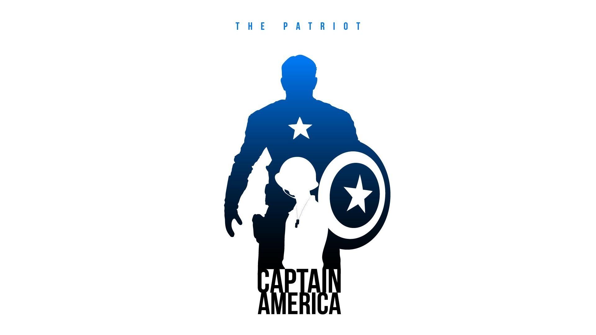 minimalistic Captain America silhouette Marvel Comics The Avengers posters  fan art white background – Wallpaper ( / Wallbase.