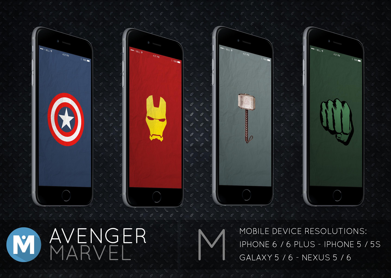 … MOBILE : Avenger Marvel Wallpaper Pack by polygn