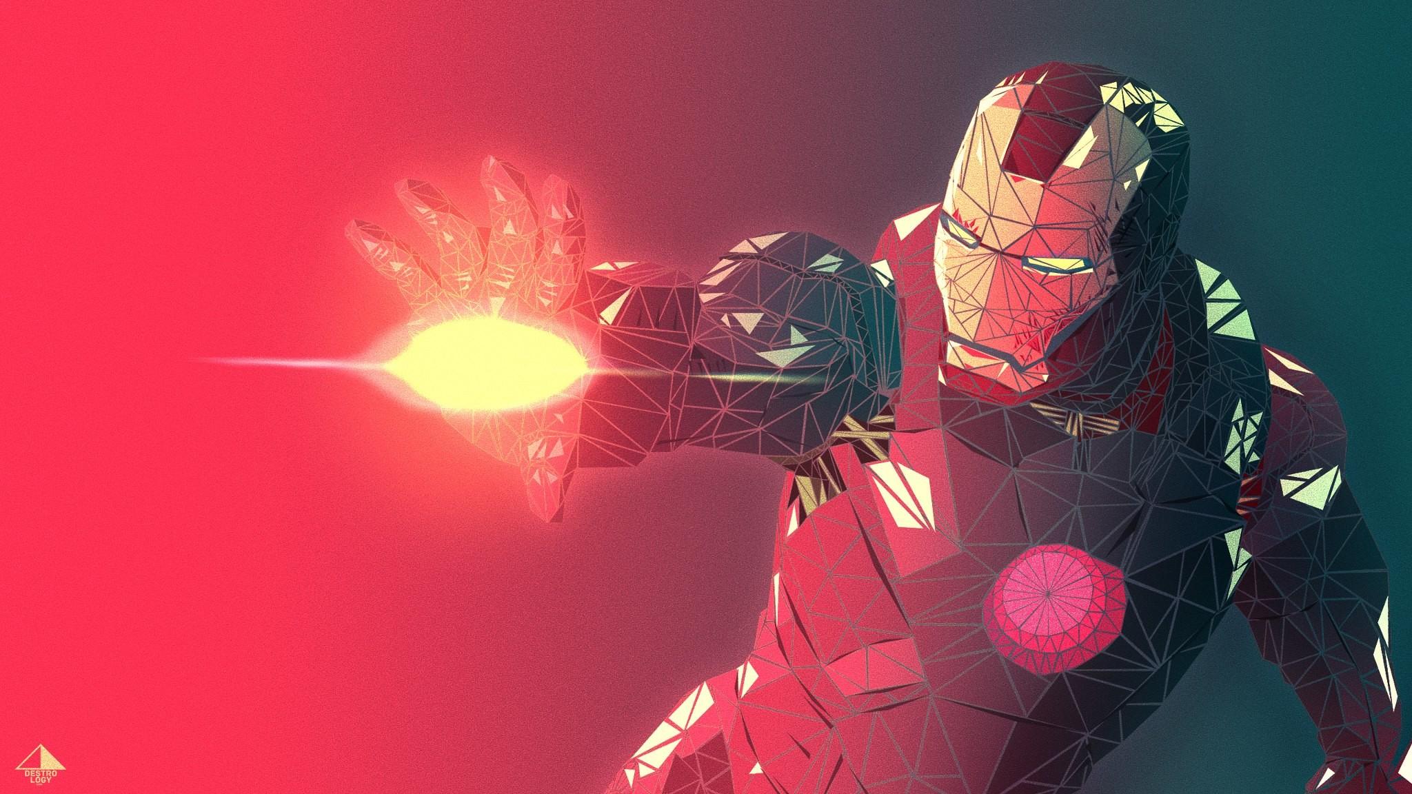 Iron Man triangles wallpaper, Marvel comics, Ironman, wallpapers,  superheroes, digital design