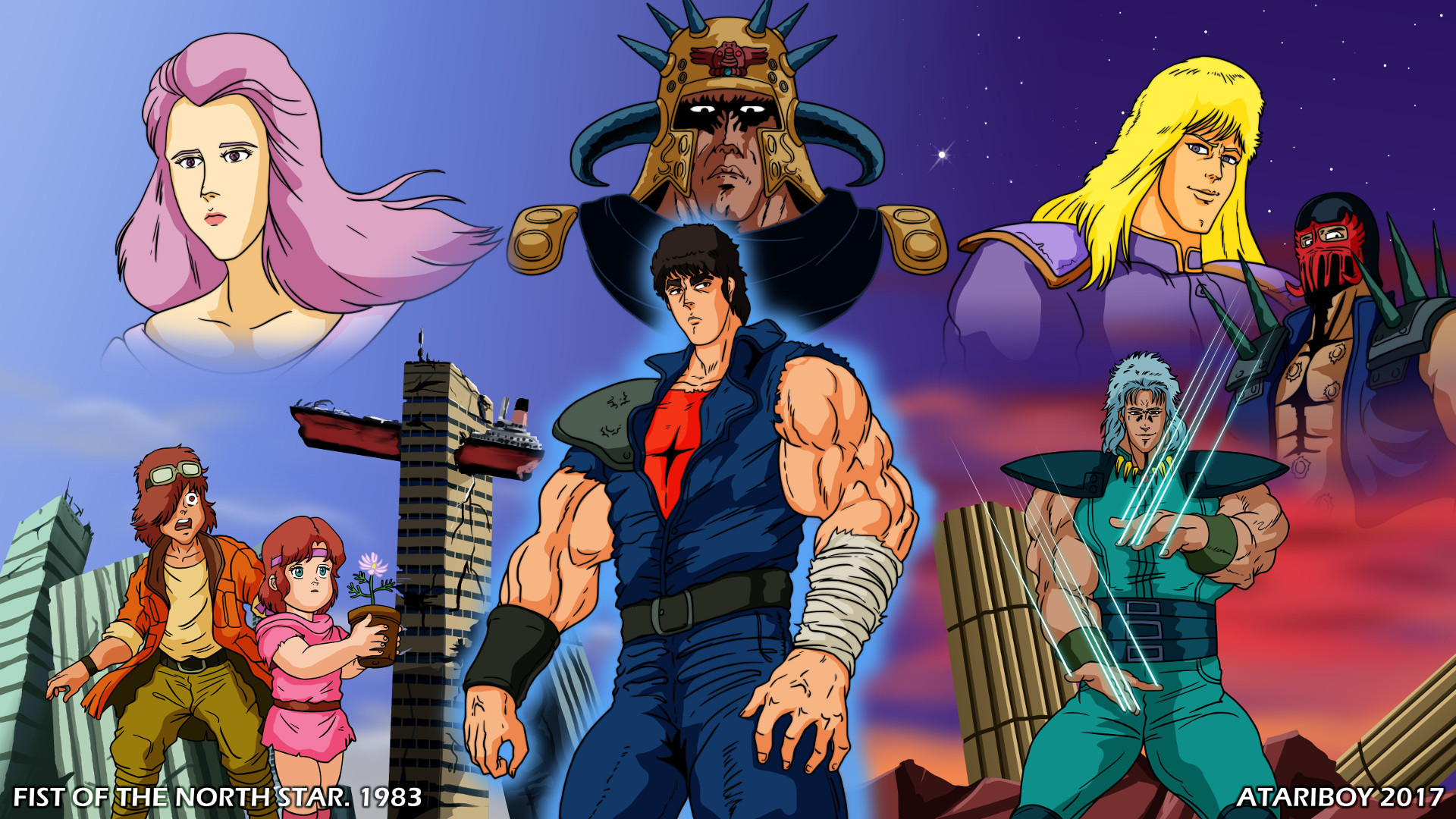 … I Heart Fist Of The North Star. by Atariboy2600