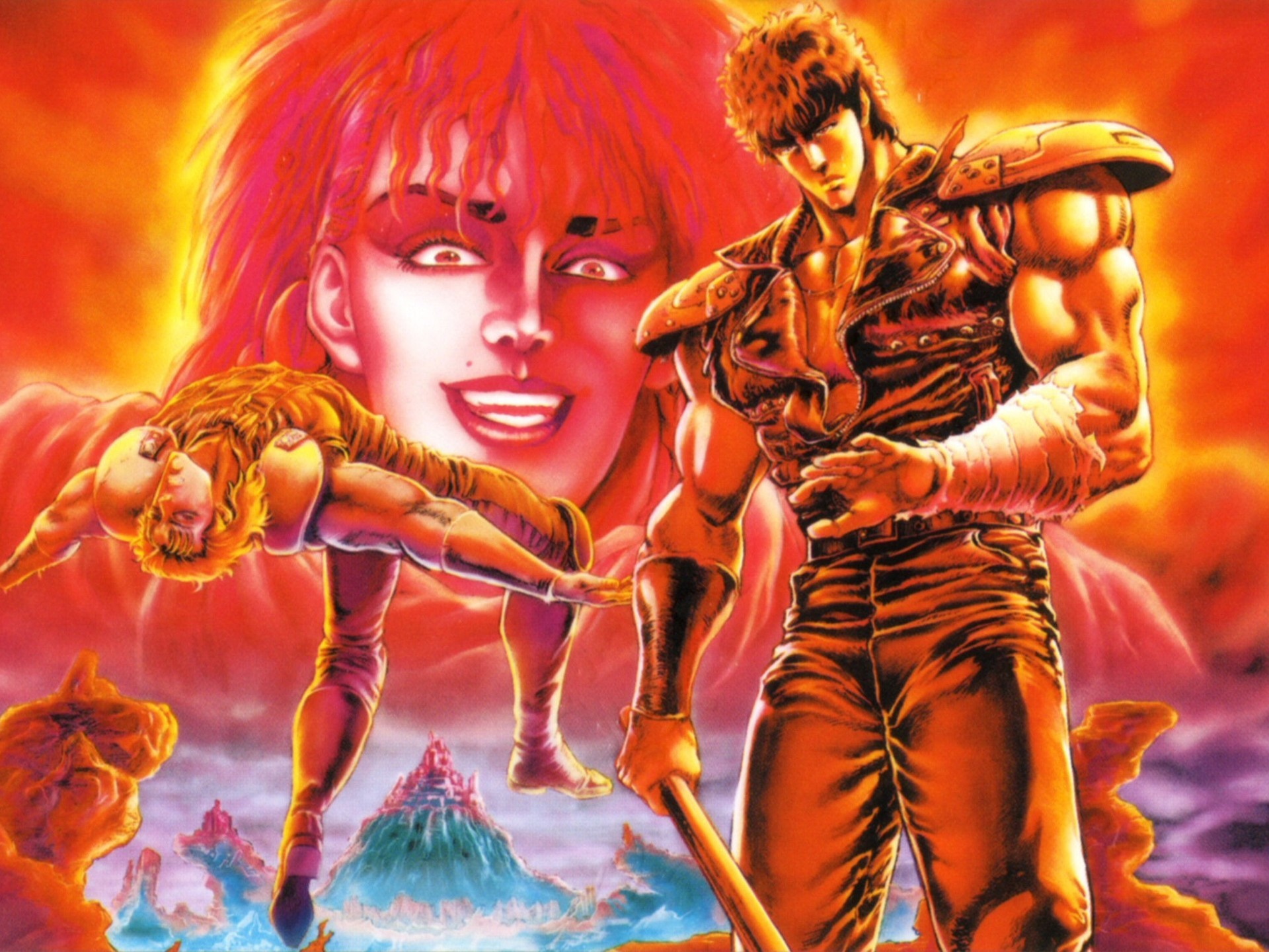 """anthonysanime: """" Fist of the North Star coloured manga pages """""""