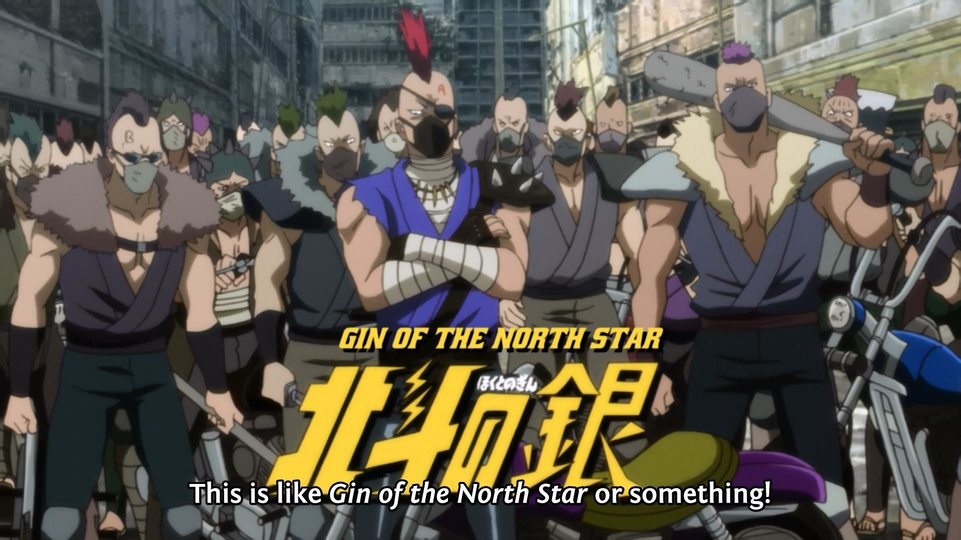 too bad I didn't watch the original Hokuto no Ken my knowledge regarding  the series only comes from Gintama lol