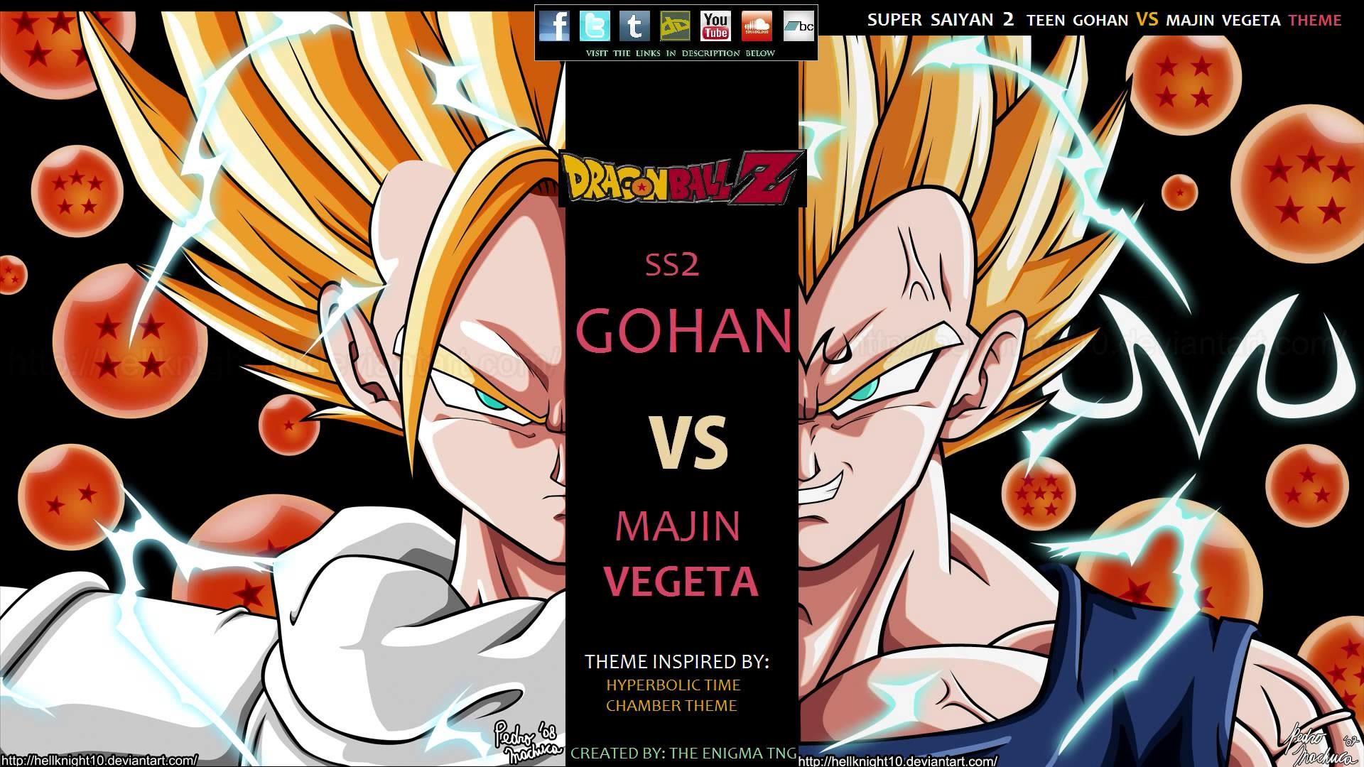 Dragon Ball Z – Super Saiyan 2 Teen Gohan VS Majin Vegeta Theme (The Enigma  TNG) – YouTube