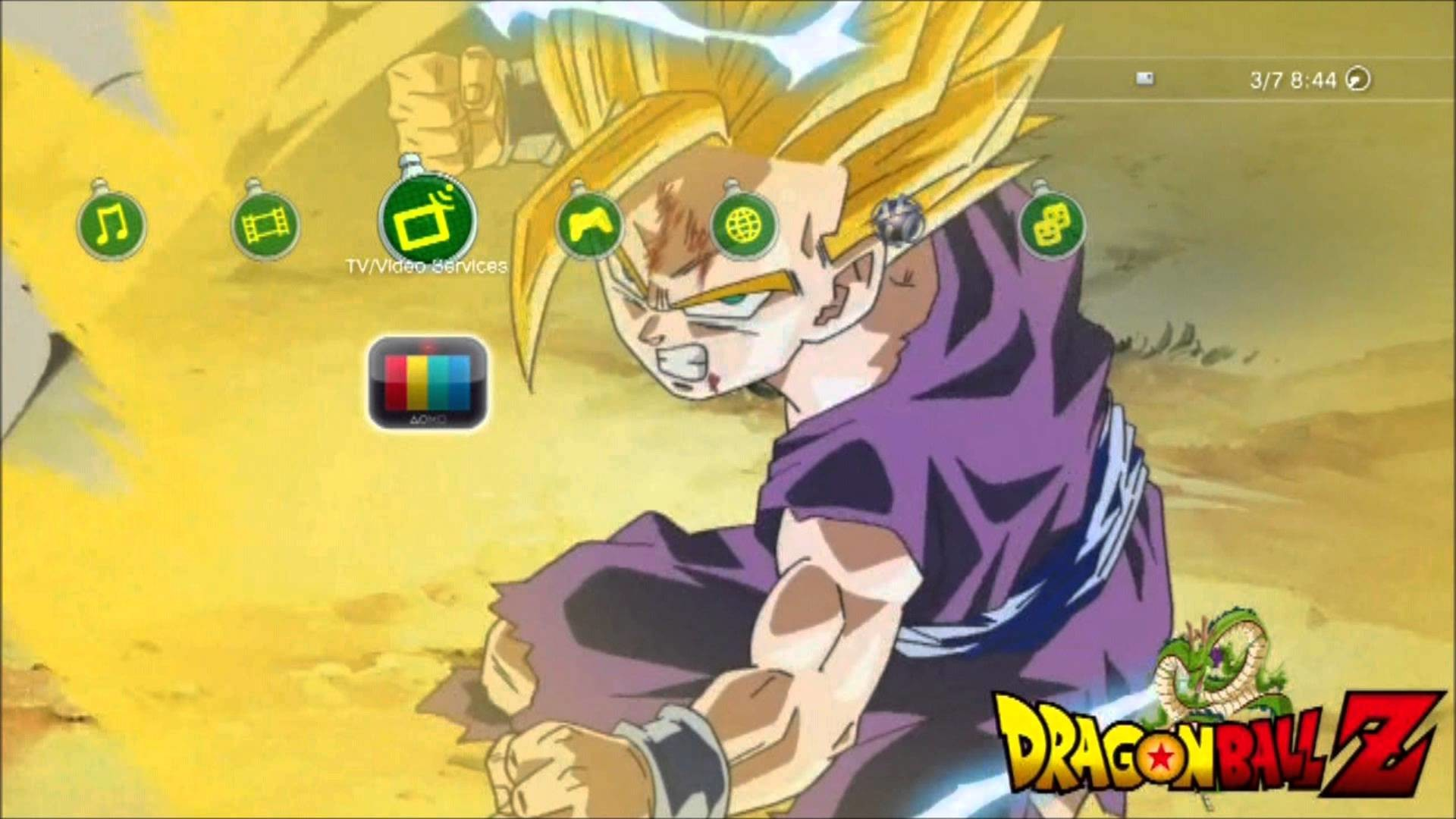 PS3 Dynamic Theme Dragon Ball Super Saiyan Gohan – YouTube