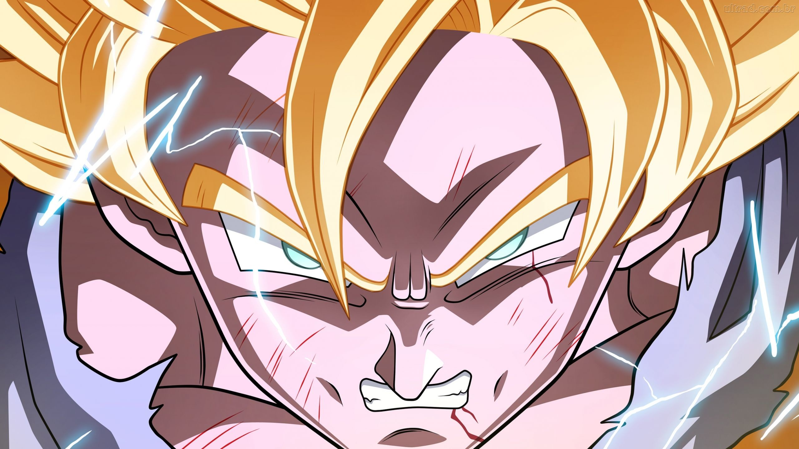 Super Saiyan 2 Goku, pissed off. I didn't have much time on my hands to do  it, but it was worth the time I spent on it, good fun.
