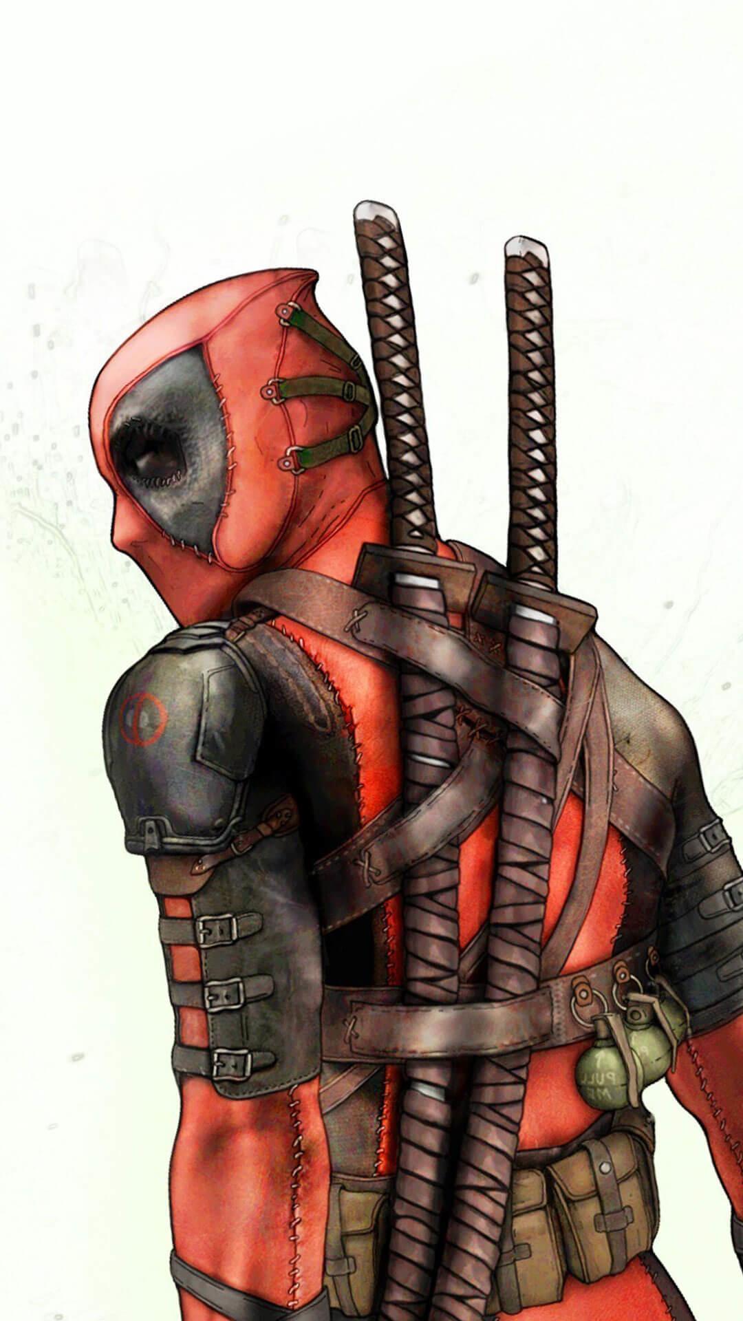 Deadpool Background iPhone 6 HD