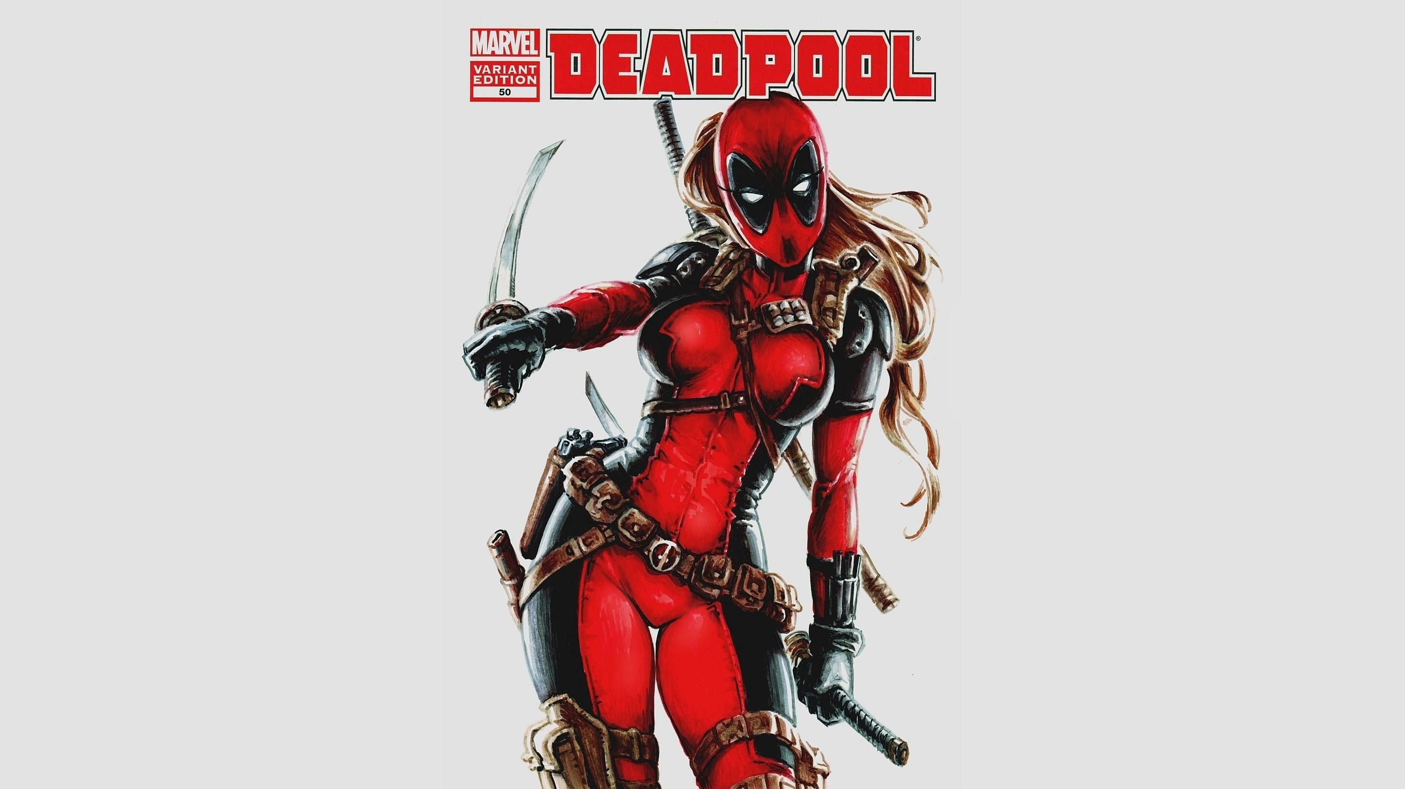 Deadpool Cool Girl Wallpaper HD.