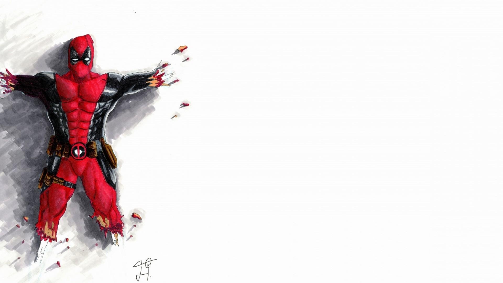 Preview wallpaper deadpool, comics, marvel, wade wilson 1920×1080