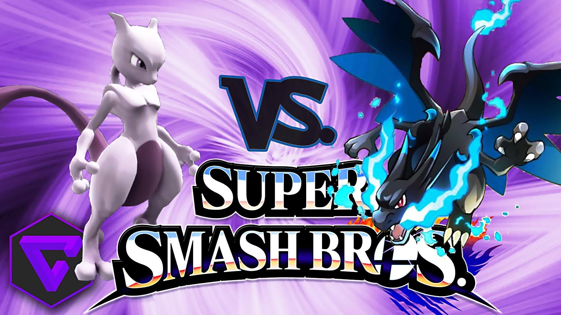 """SUPER SMASH BROS: MEWTWO VS MEGA CHARIZARD X """"POKÉMON ORIGINS"""" (3DS) –  YouTube"""