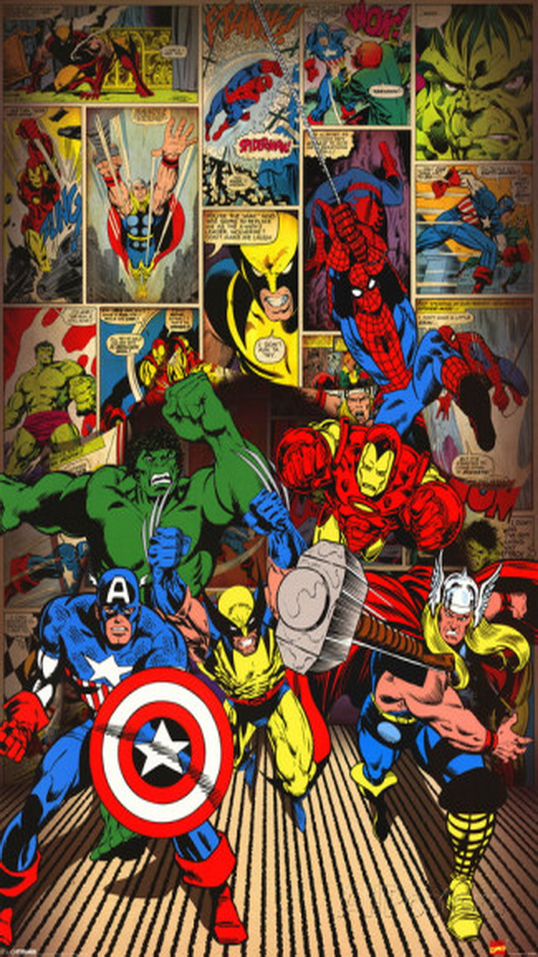 Marvel-Here Come the Heroes iPhone 6 Wallpaper, Plus Hd – Visit to grab an  amazing super hero shirt now on sale!