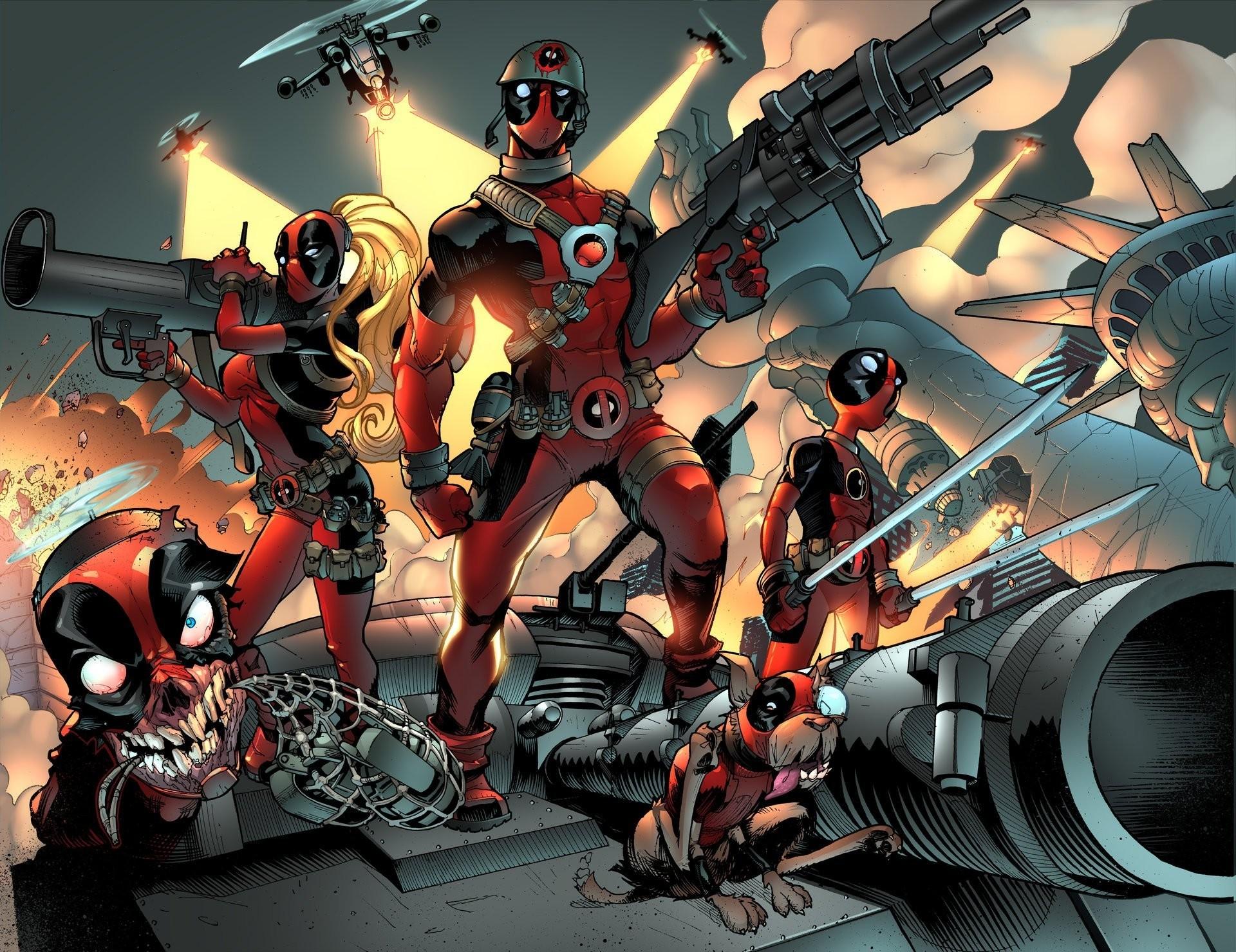 marvel comics art deadpool comics wade wilson HD wallpaper
