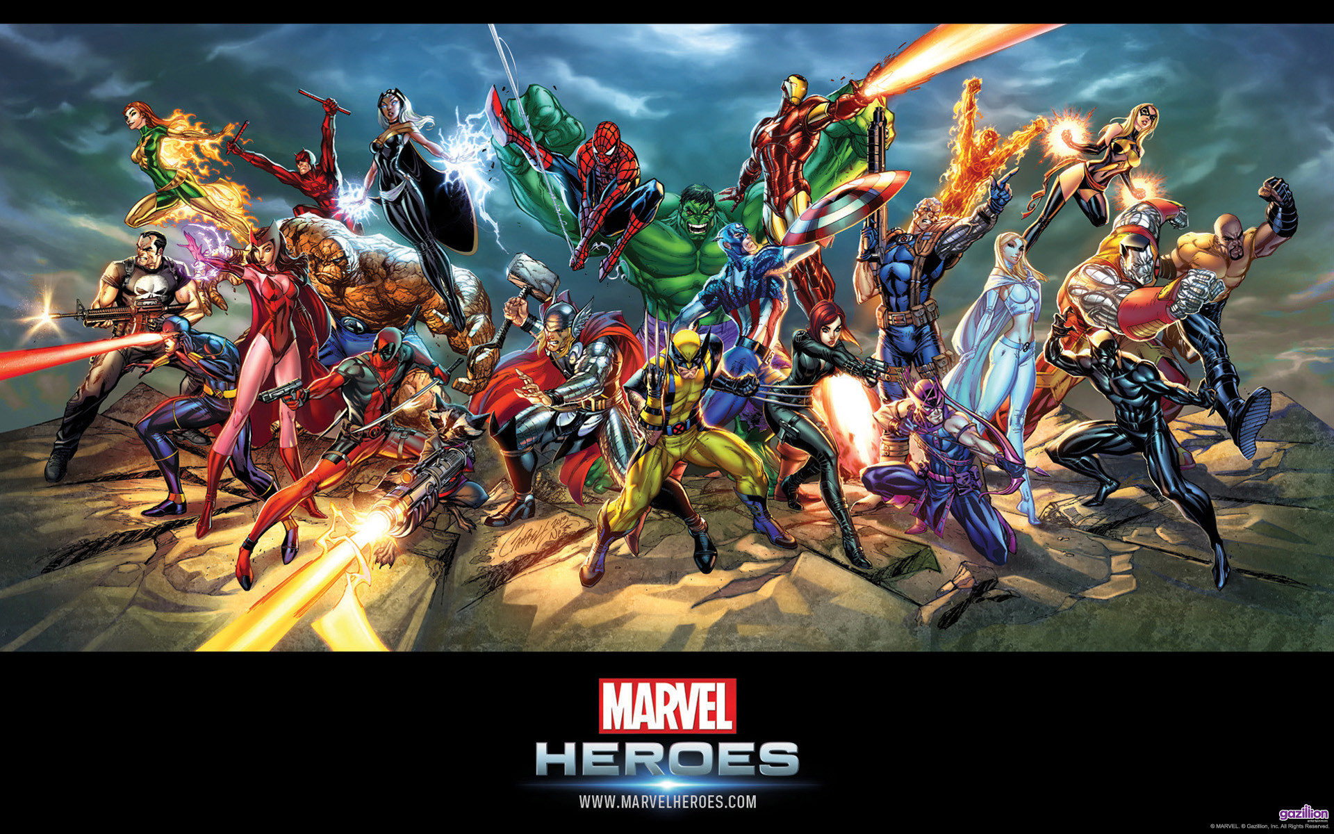 Marvel Heroes by Jeff Scott Campbell