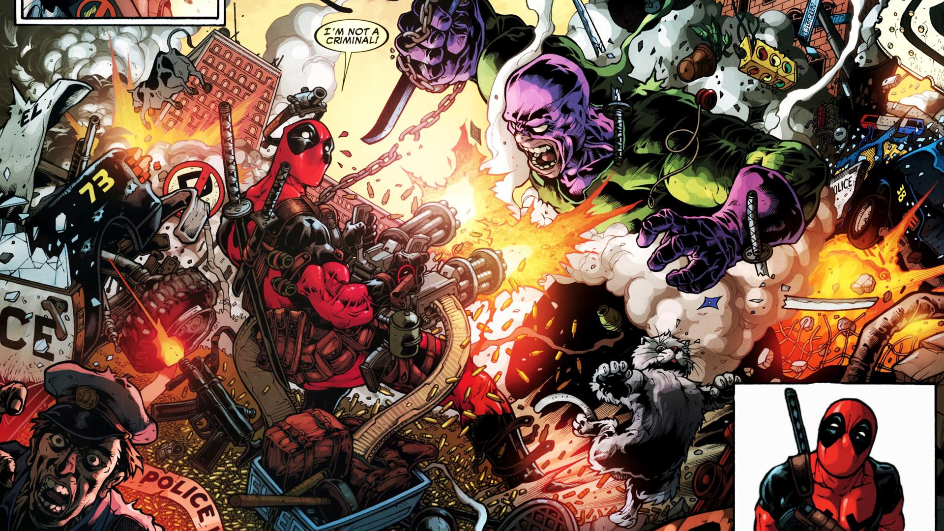 Deadpool Wade Winston Wilson anti-hero Marvel Comics mercenary wallpaper |  | 39347 | WallpaperUP