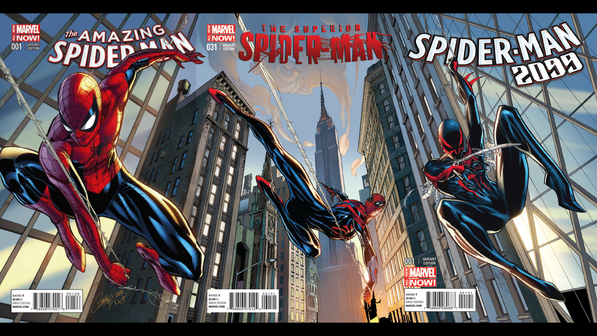 For those asking for a wallpaper of the Campbell Spider-Man variants.