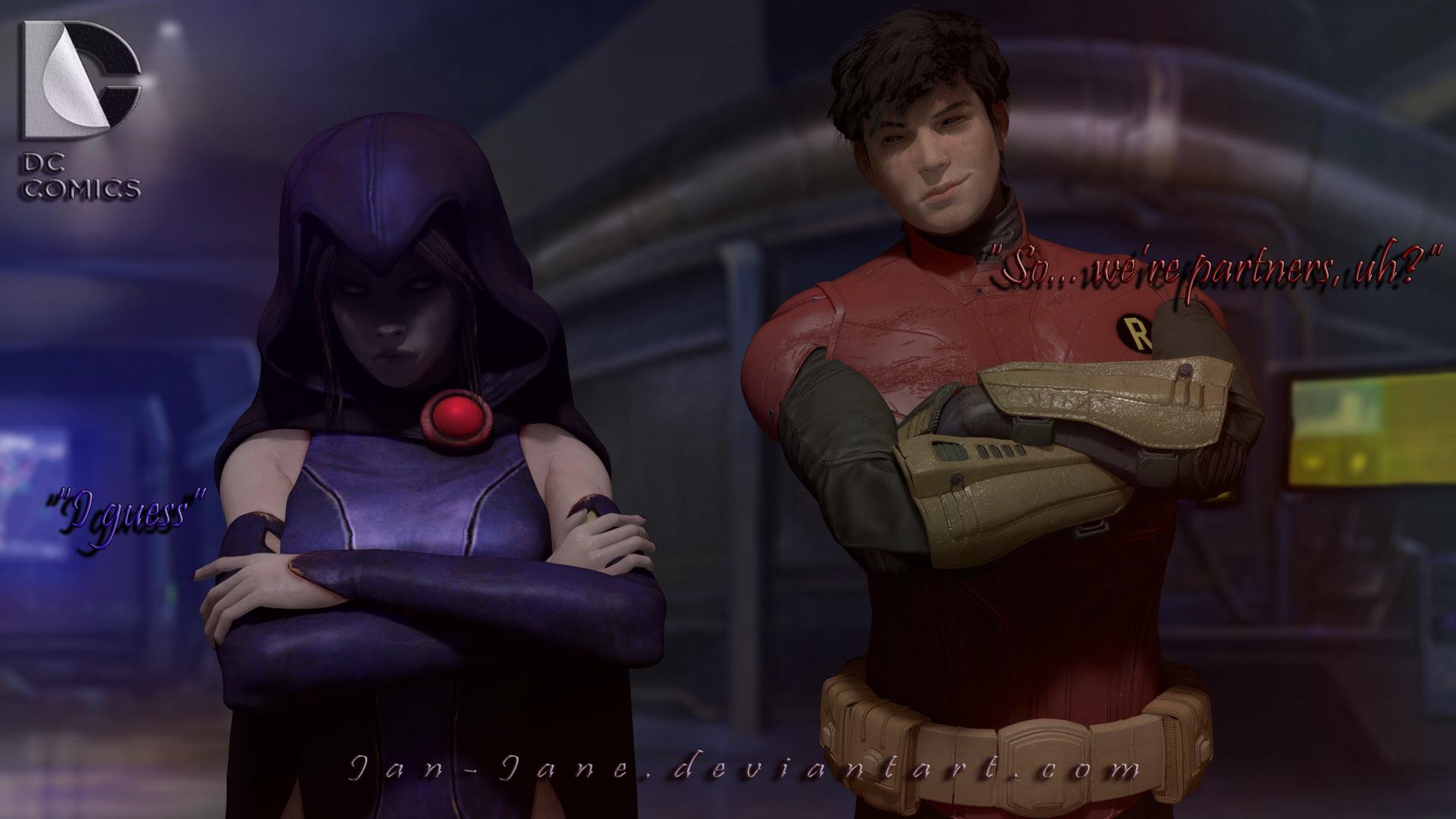 … DC – Raven X Jason by Jan-Jane