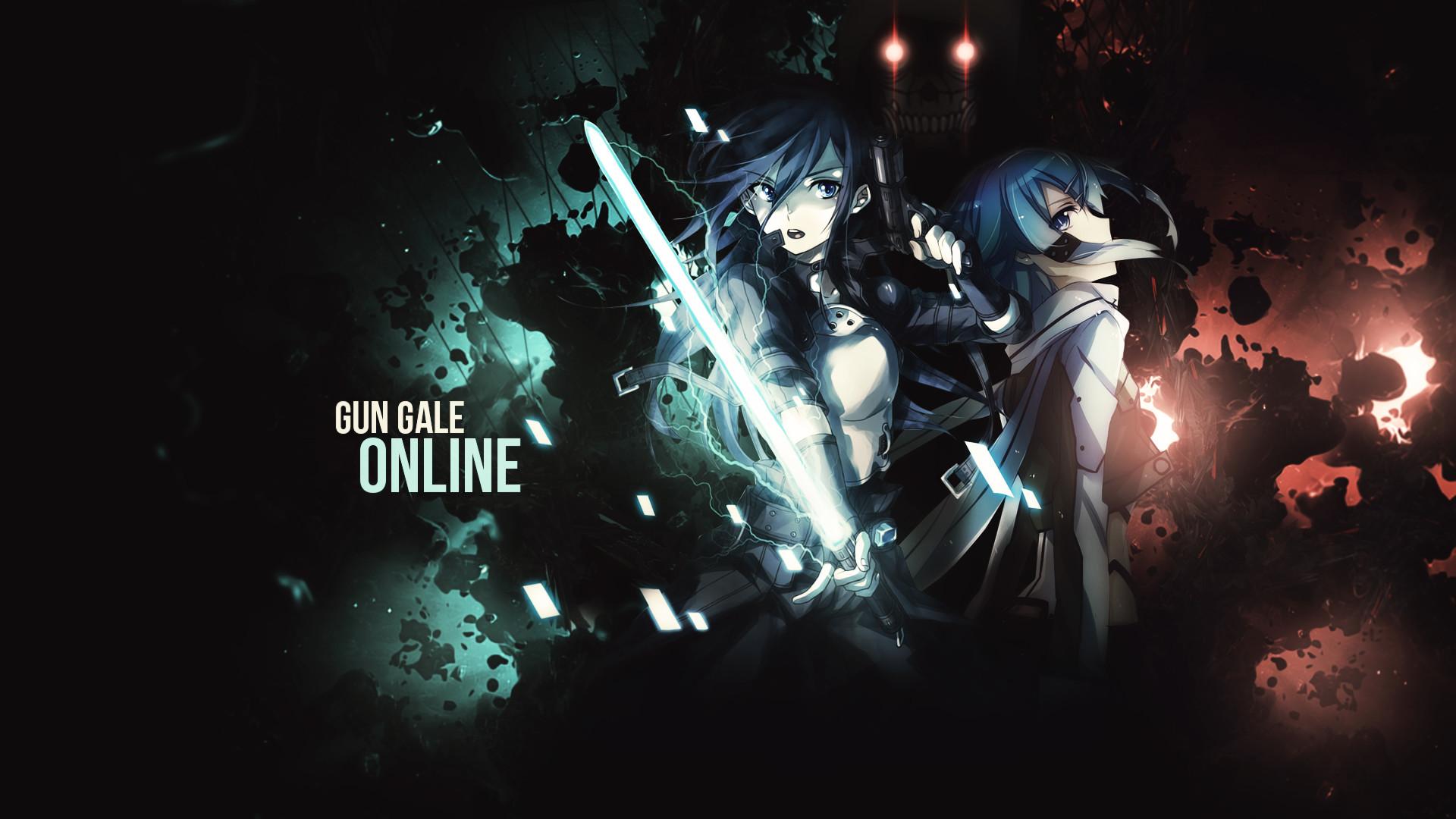 Death Gun Kirito Sinon Sword Art Online Sword Art Online II · HD Wallpaper  | Background ID:632568
