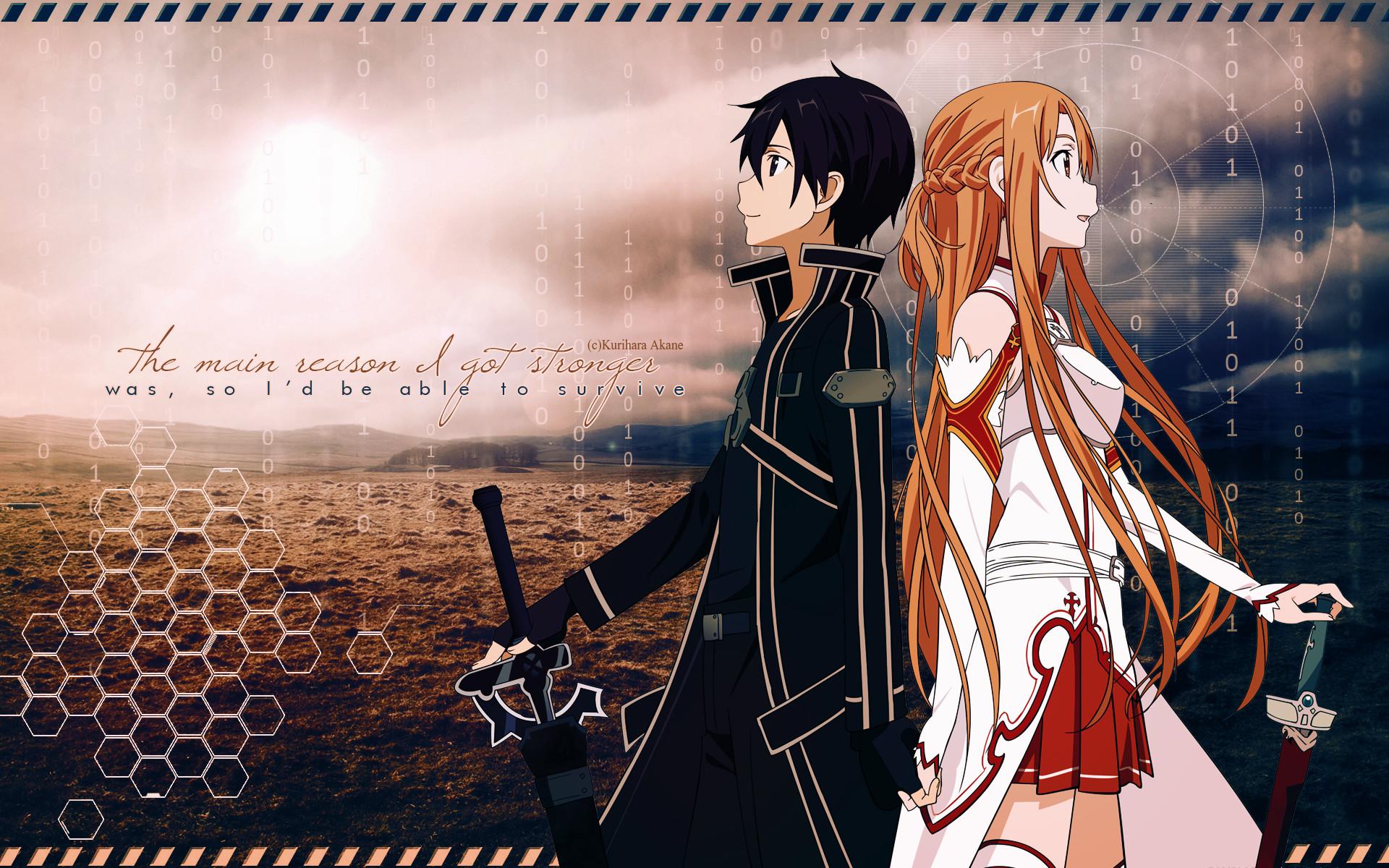 Sword Art Online Wallpaper Kirito And Asuna