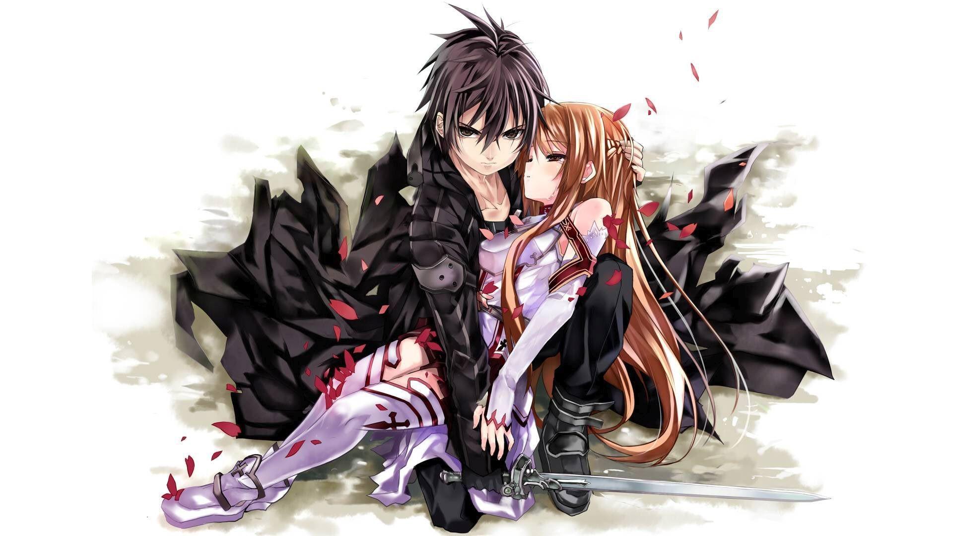 Asuna and Kirito – Sword Art Online HD Wallpaper 1920×1080