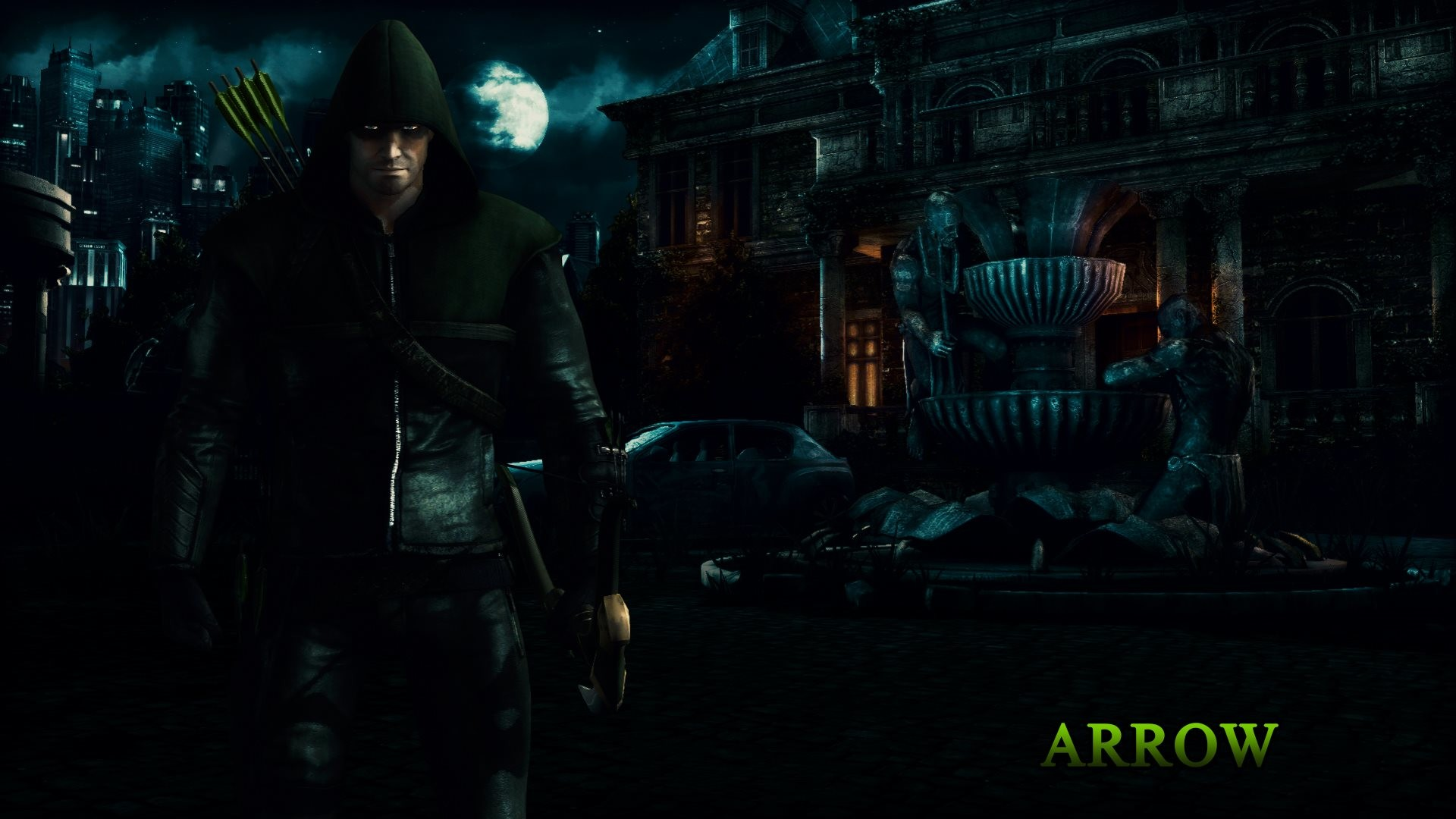In the 5th wallpaper is Arrow from Injustice: Gods Among Us