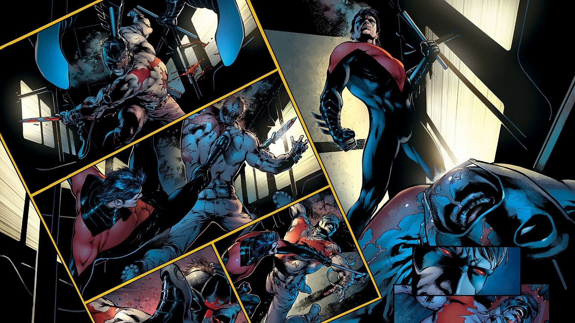 Wallpapers For > Nightwing And Batman Wallpaper