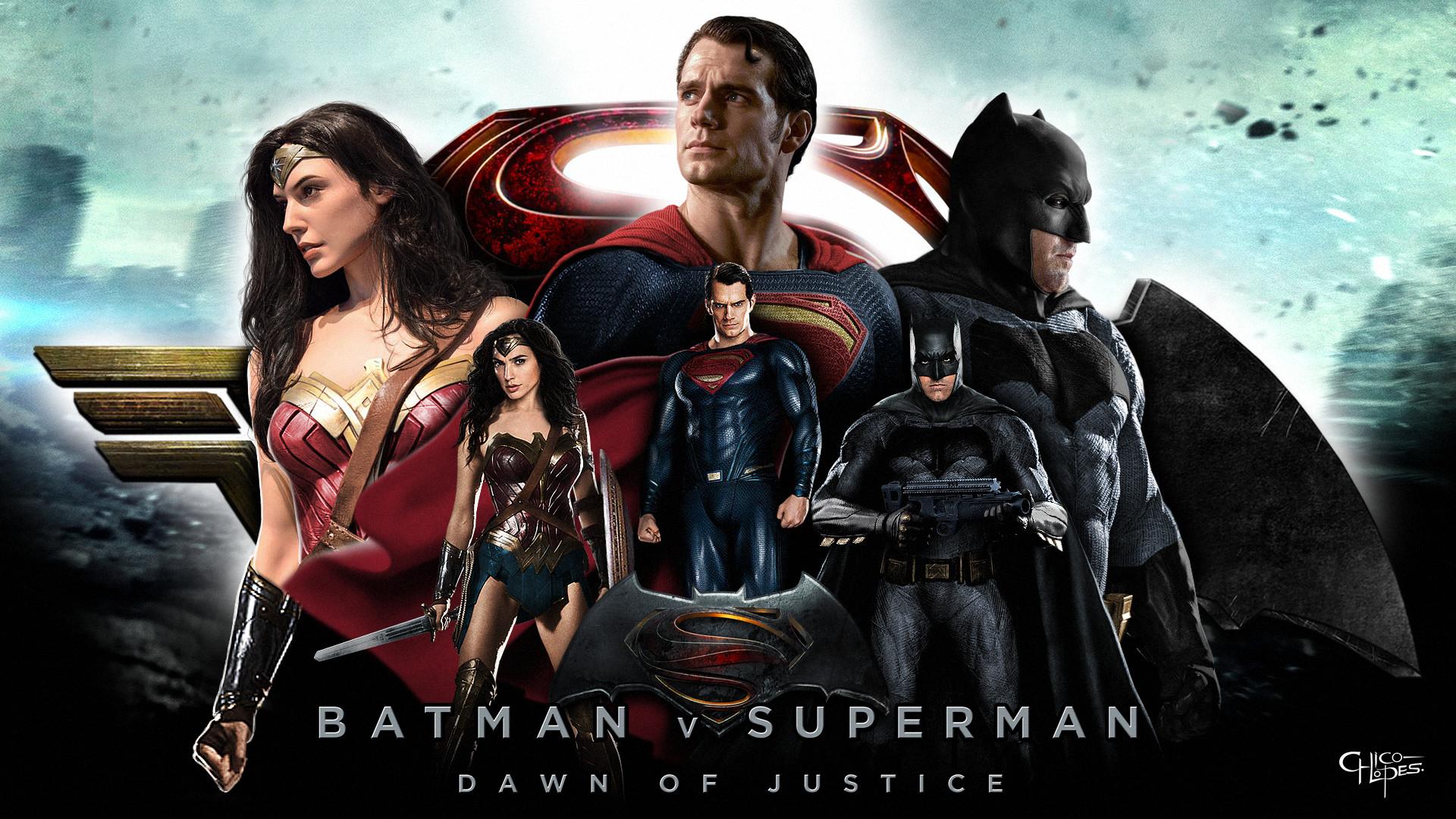 … LoganChico Batman, Superman and Wonder Woman – Wallpaper by LoganChico
