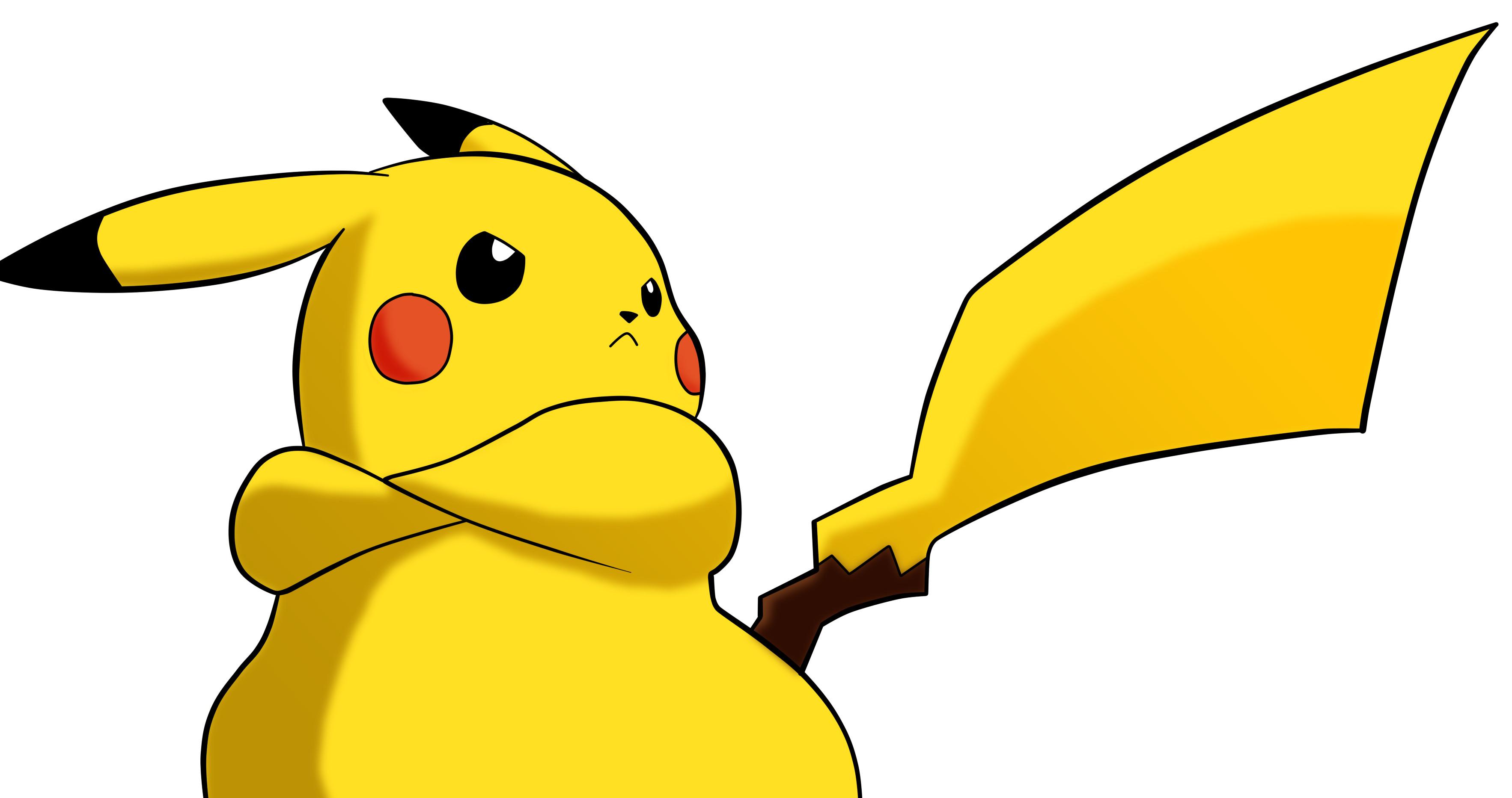 Angry Cute Pikachu Pokemon Wallpaper