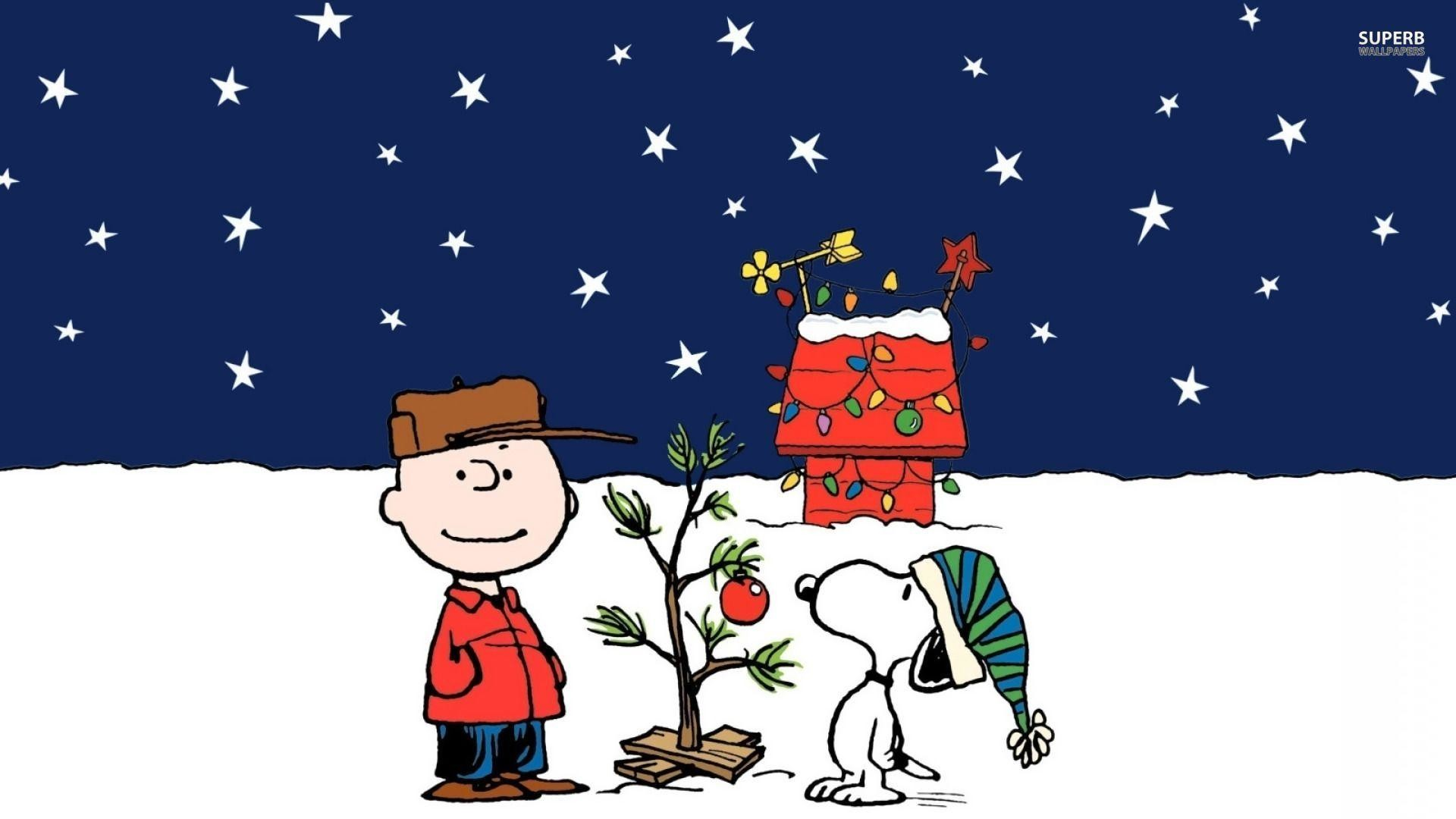 Wallpapers For > Charlie Brown Snoopy Christmas Wallpaper